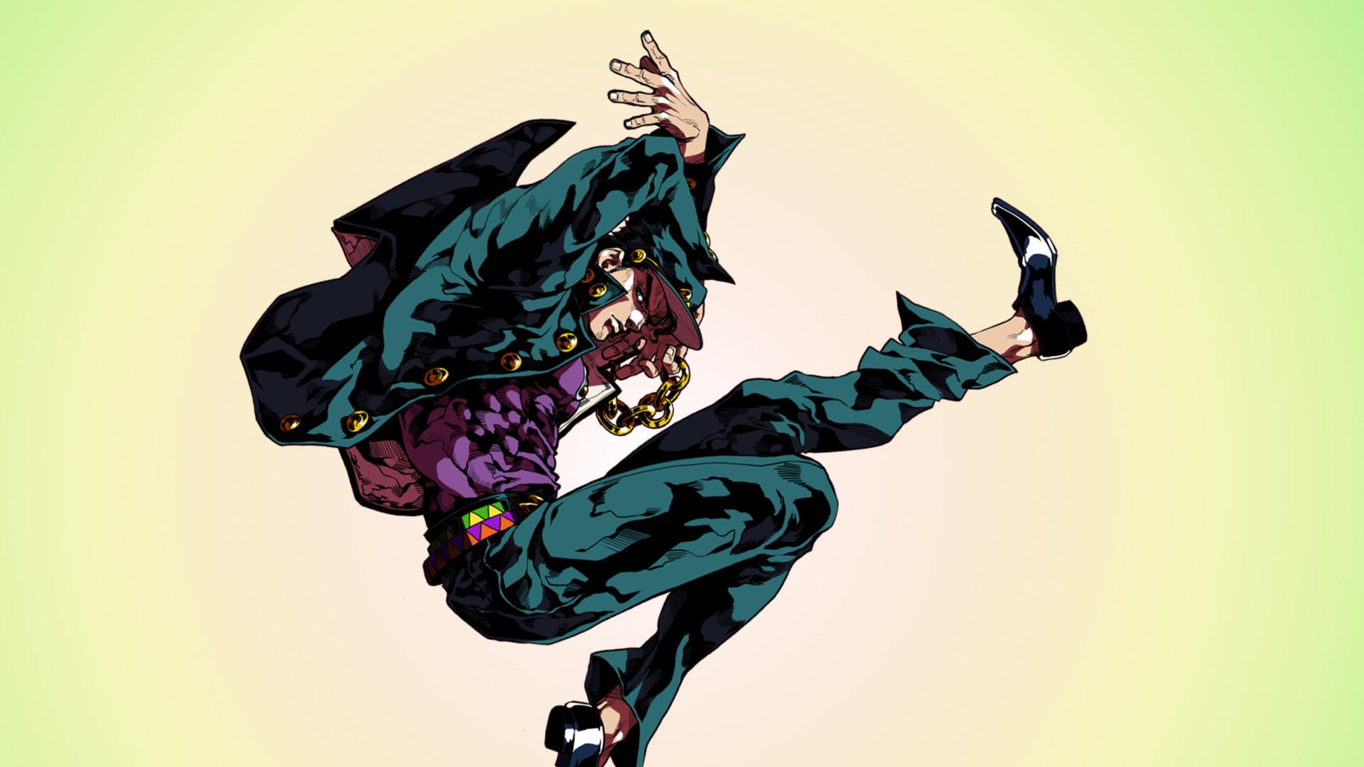 Anime anime JoJo's Bizarre Adventure Jotaro Kujo dancing .