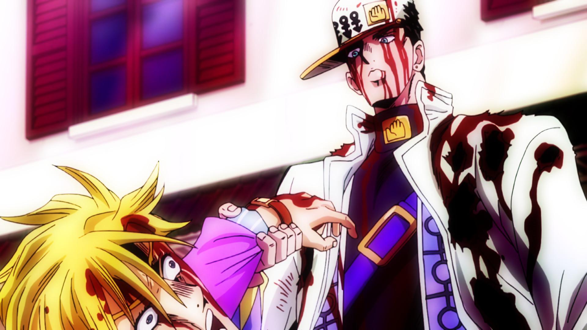 Anime – Jojo's Bizarre Adventure Yoshikage Kira Jotaro Kujo Bakgrund