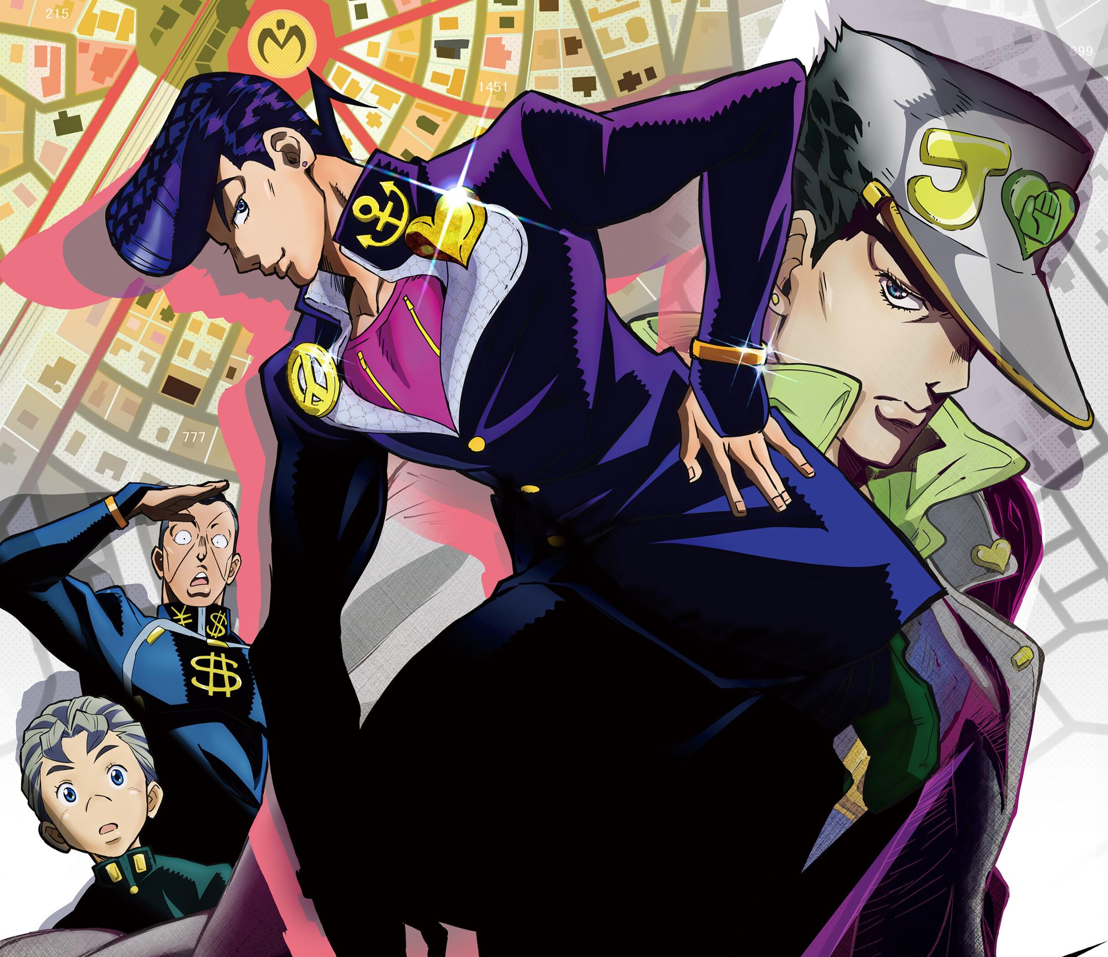 Anime – Jojo's Bizarre Adventure Josuke Higashikata Jotaro Kujo Okuyasu  Nijimura Koichi Hirose Wallpaper