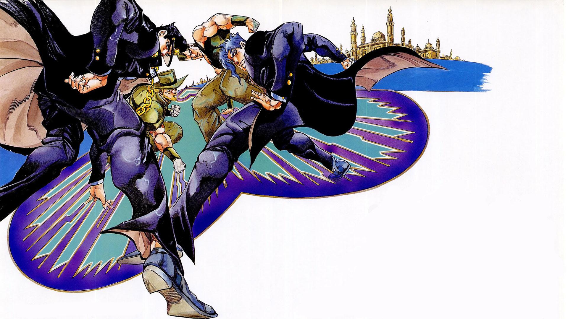 Anime – Jojo's Bizarre Adventure Jotaro Kujo Noriaki Kakyoin Jean Pierre  Polnareff Joseph Joestar Wallpaper