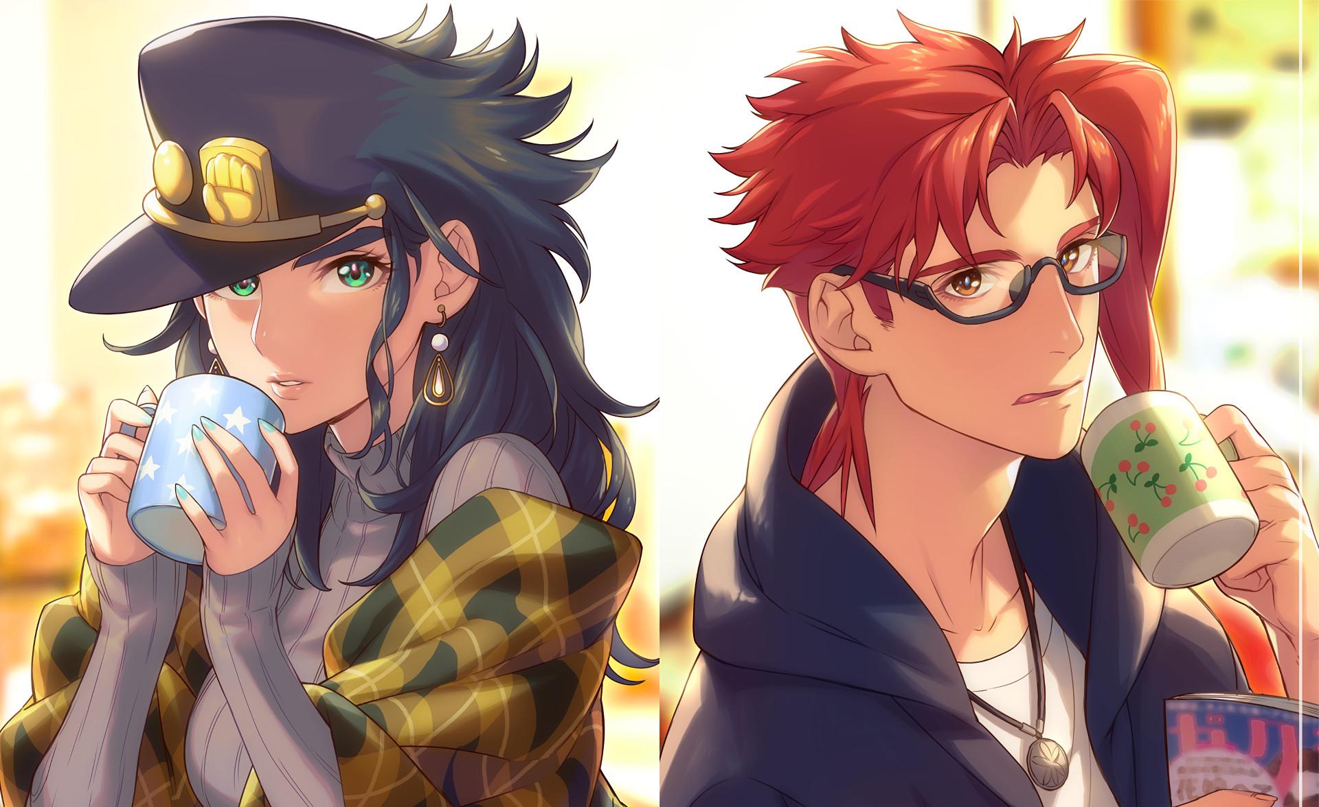 Anime – Jojo's Bizarre Adventure Noriaki Kakyoin Jotaro Kujo Wallpaper