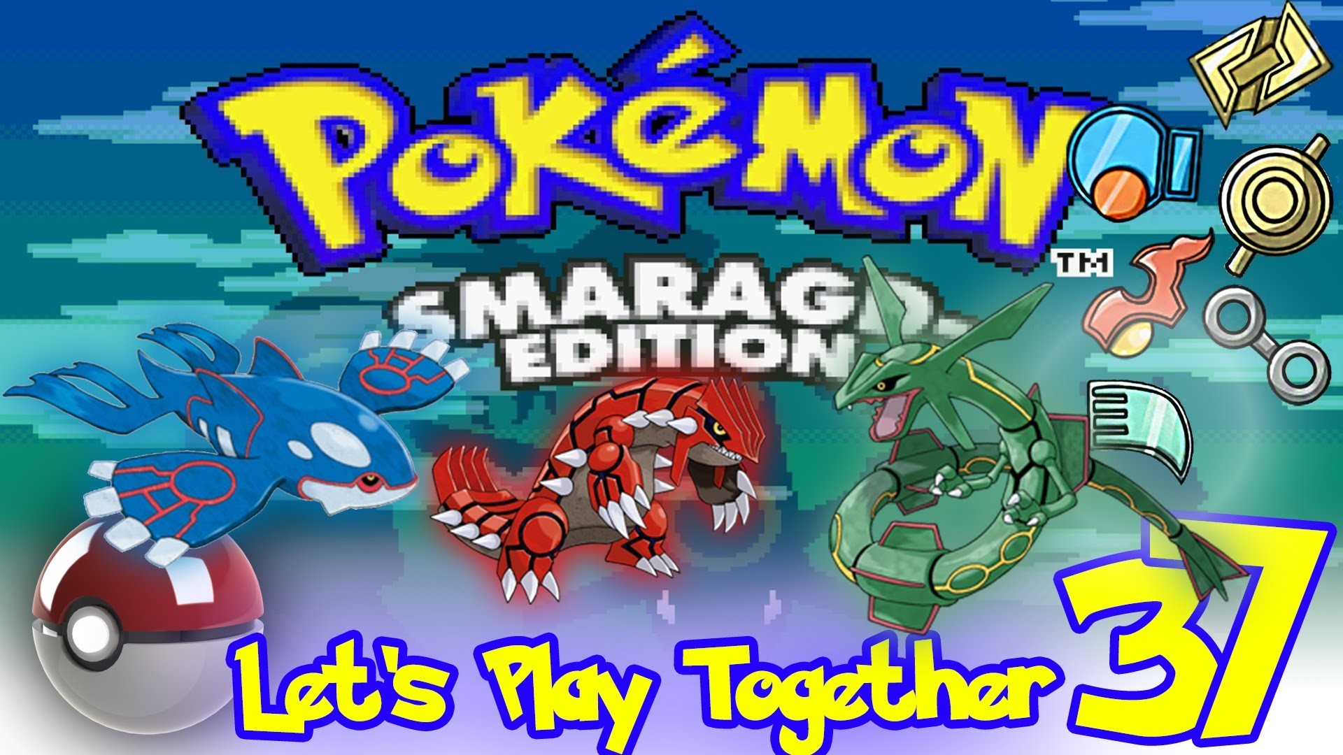 EPIC [Rayquaza / Kyogre / Groudon] – Let's Play Together Pokemon Smaragd  #37 – YouTube