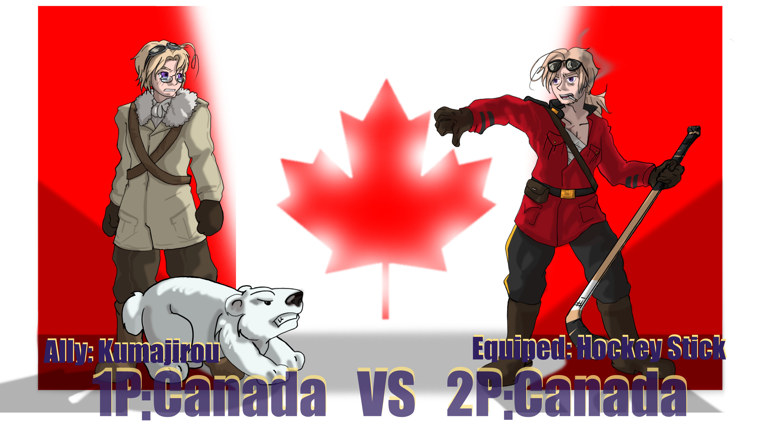 … Hetalia Fights: 1P vs 2PCanada by Sagealina