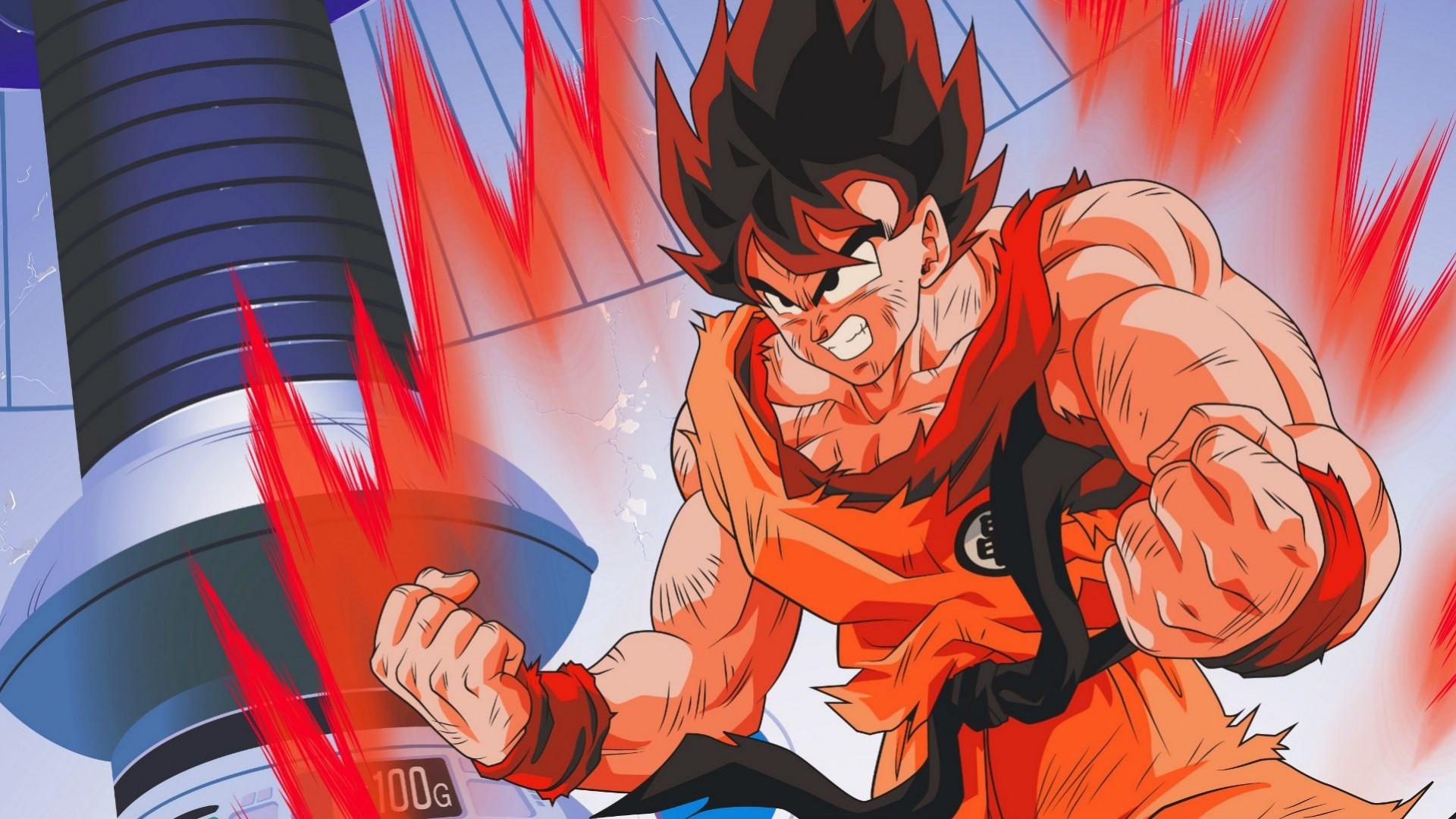 Wallpaper dragon ball z, goku, aggression, guy