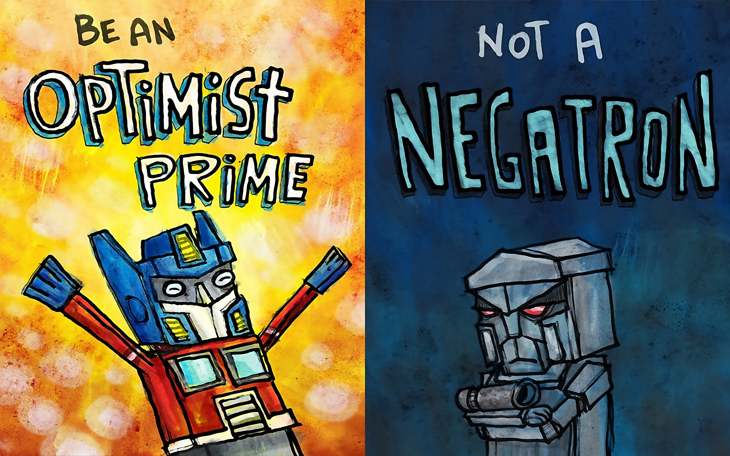 Cartoons Megatron Motivation Optimus Prime Robots Transformers