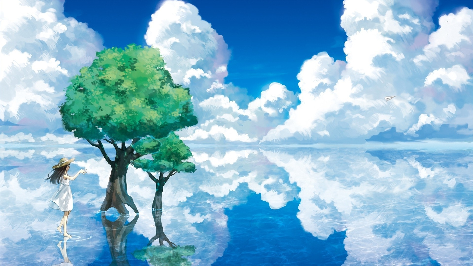 animation, Nature, Sky, Clouds, Water Wallpapers HD / Desktop and Mobile  Backgrounds