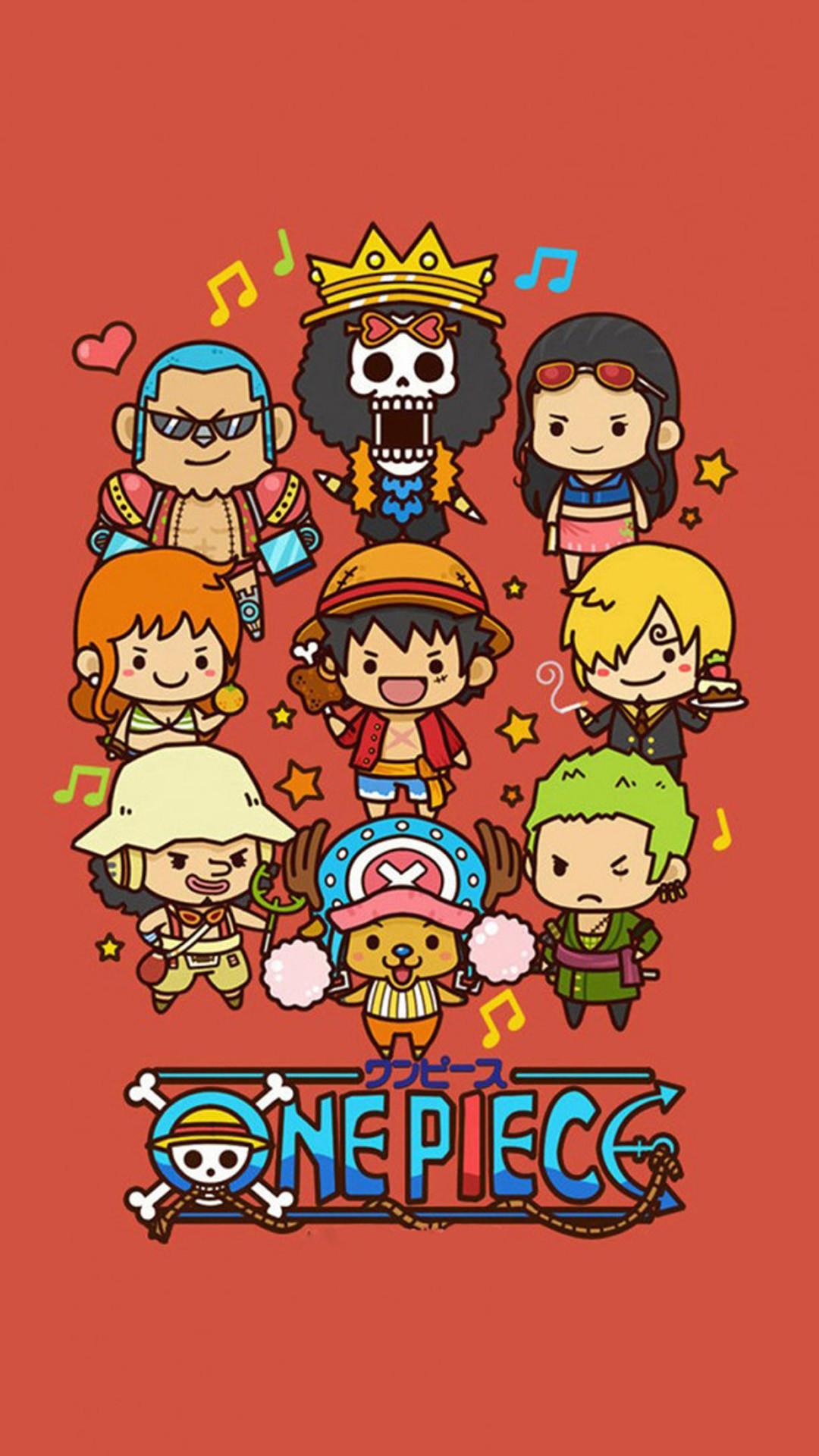 Cute Lovely One Piece Cartoon Poster iPhone 6 wallpaper
