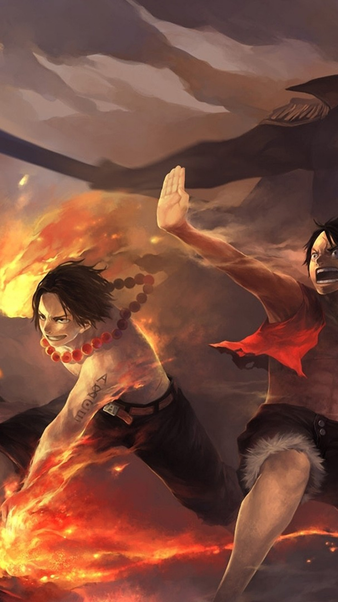HD Wallpaper One Piece Ace Luffy iPhone 6 Plus – Wallpaper .