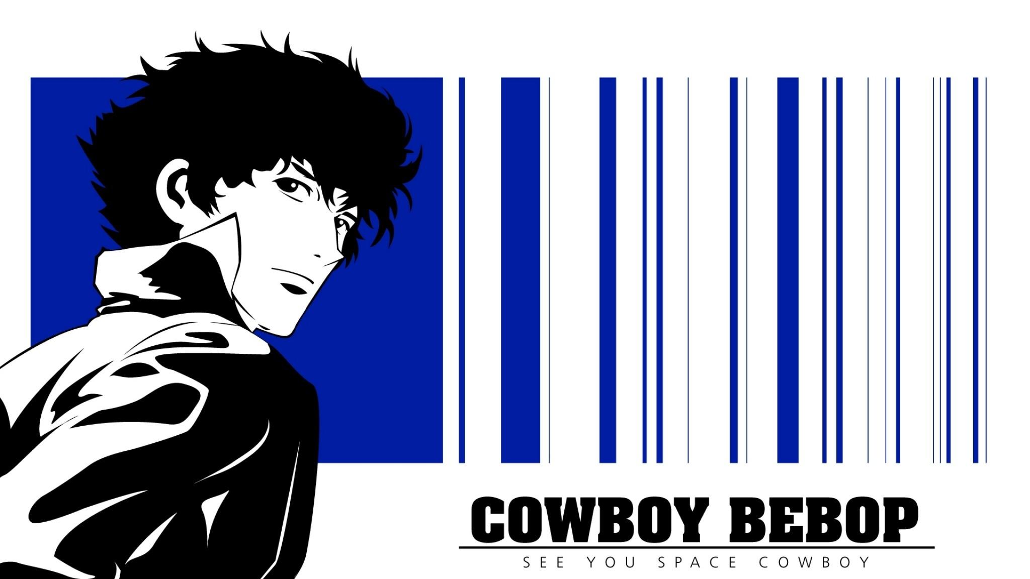 Preview wallpaper cowboy bebop, spike spiegel, boy, brunette, look 2048×1152