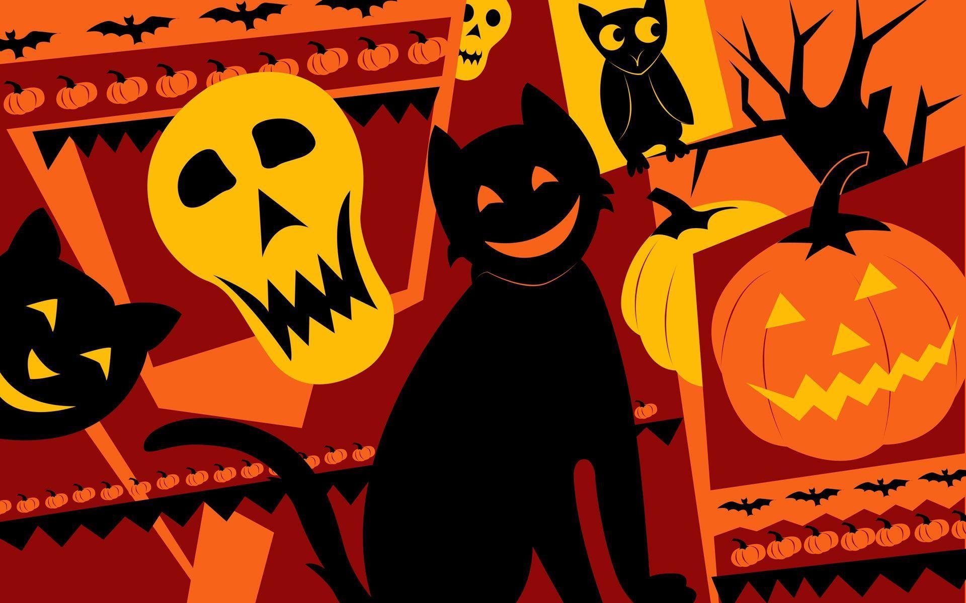 Anime Halloween | Monthly Calendar Wallpapers