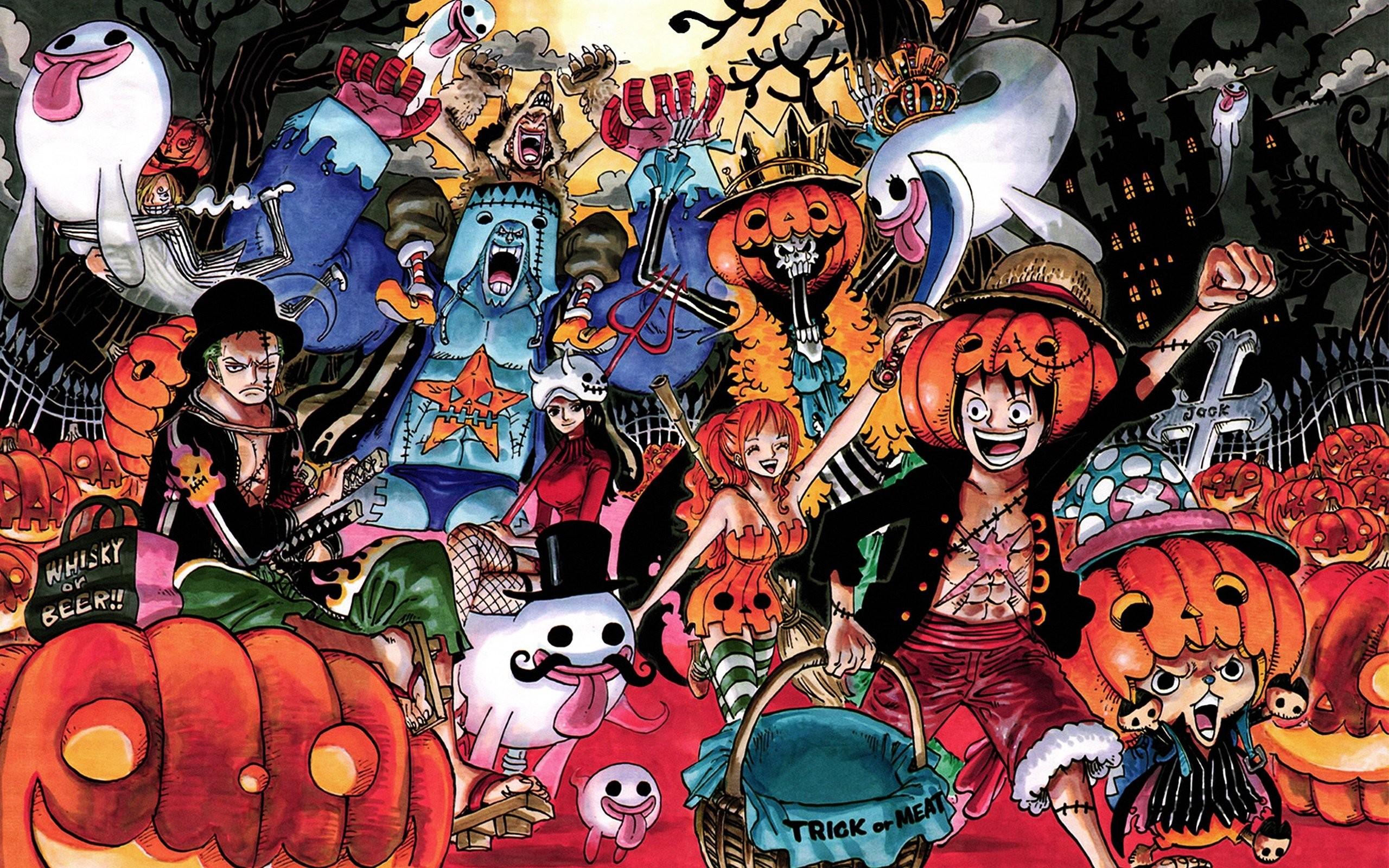 One Piece (anime) Halloween Nico Robin Roronoa Zoro Tony Tony Chopper Brook  (One Piece) Nami (One Piece) Sanji (One Piece) wallpaper | |  296316 | …