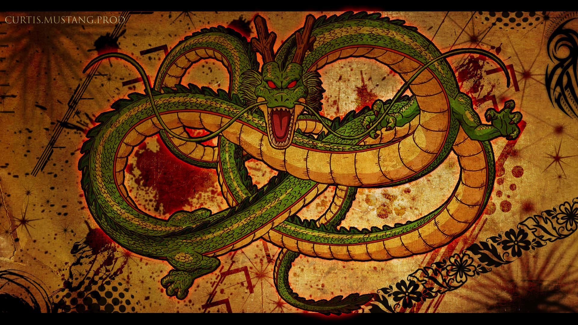 Dragon Ball Z Shenron Dragon Wallpaper – 1920 x Was anyone a huge fan of Dragon  ball z back in the day? This wallpaper features the grand Shenron.