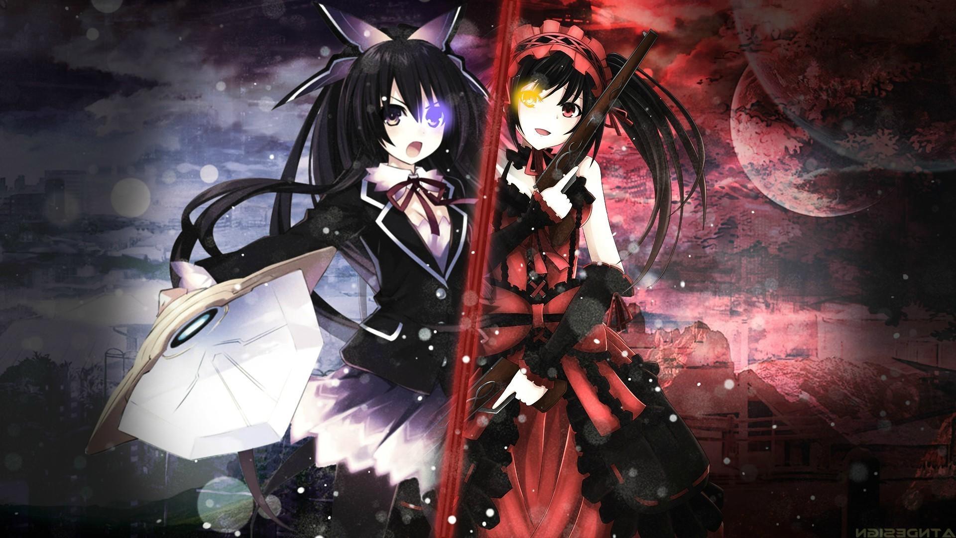 anime, Anime Girls, Tokisaki Kurumi, Date A Live, Yatogami Tohka Wallpapers  HD / Desktop and Mobile Backgrounds