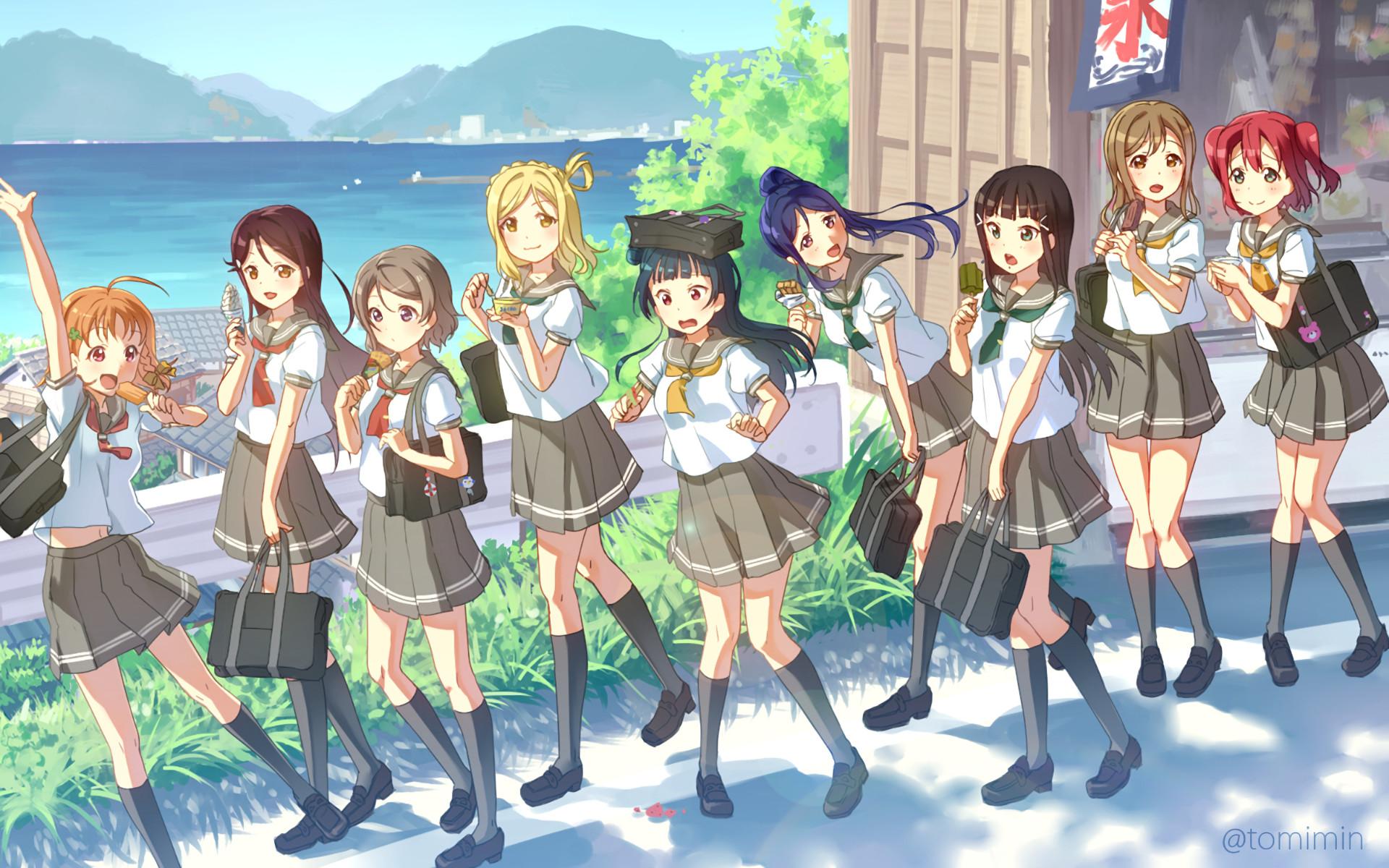 Anime – Love Live! Sunshine!! Hanamaru Kunikida Dia Kurosawa Ruby Kurosawa  Kanan Matsuura