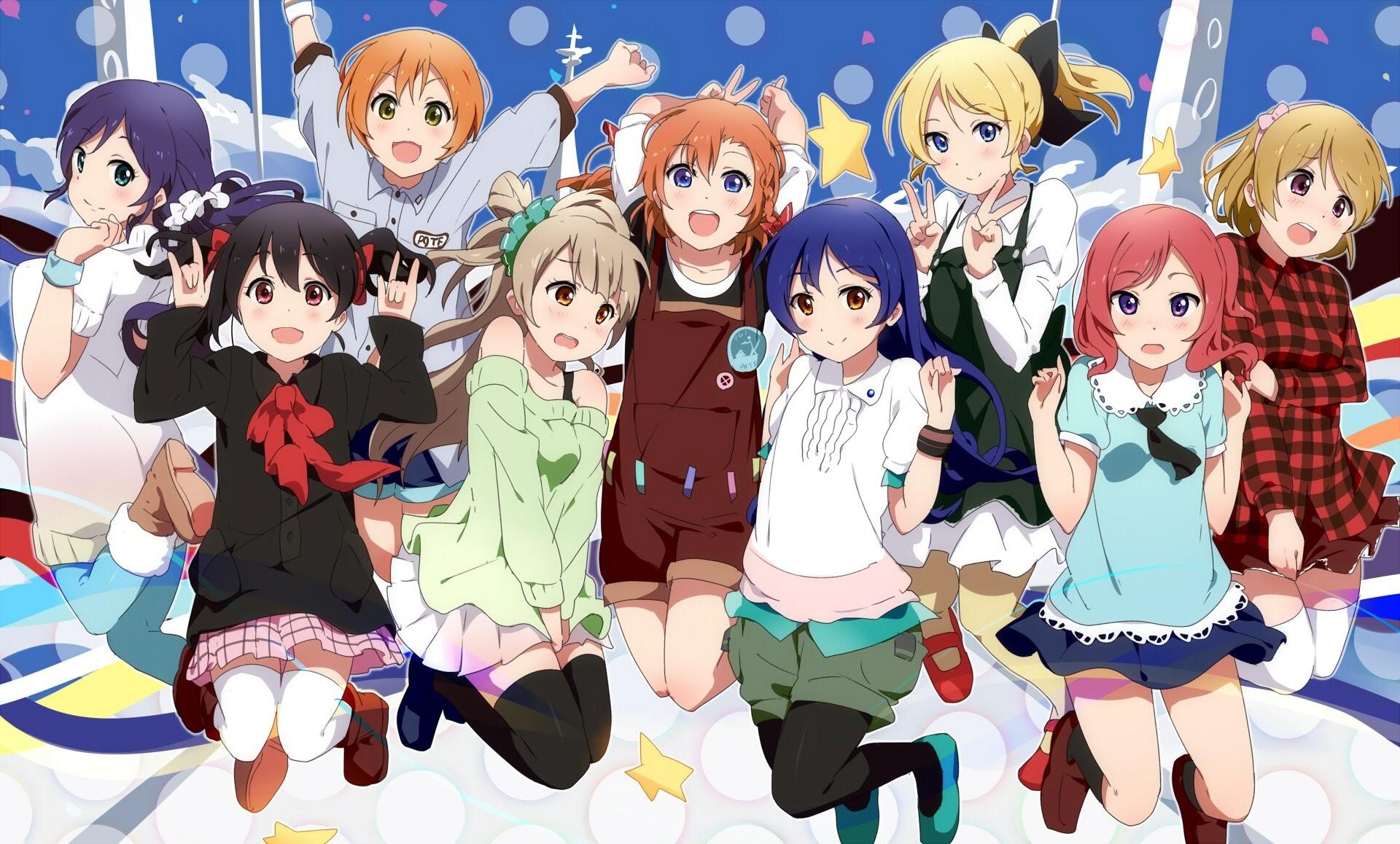 Love live! school idol project ayase eri black buraku hoshizora rin koizumi  hanayo kousaka honoka minami kotori nishikino maki sonoda umi toujou nozomi  …