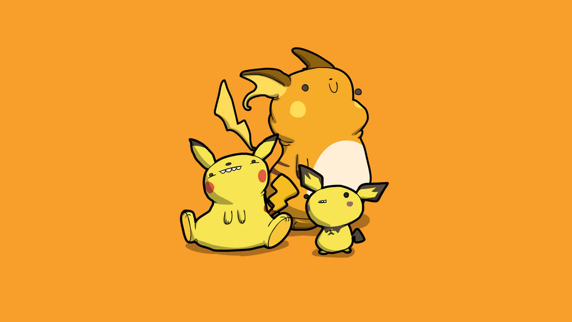 Video Game РPok̩mon Pikachu Pichu (Pok̩mon) Raichu (Pok̩mon) Wallpaper