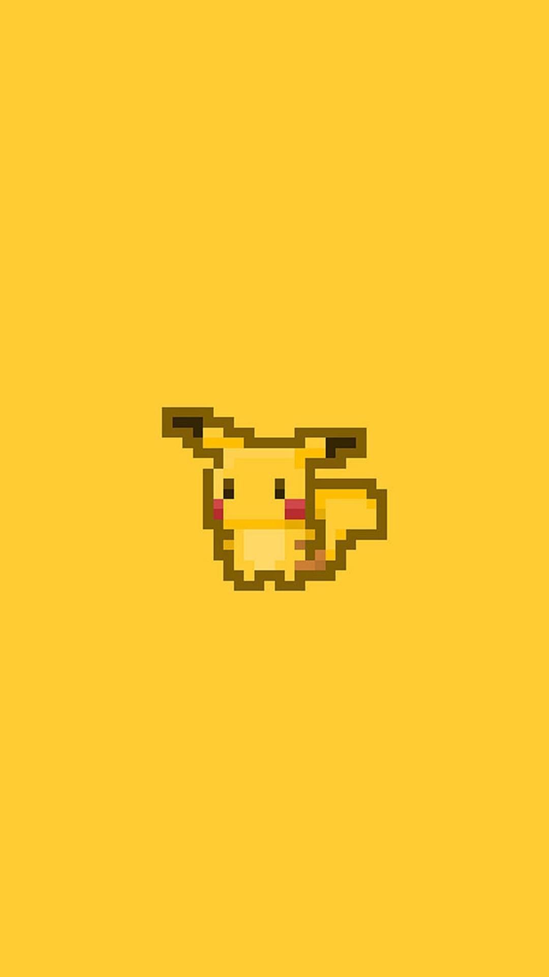 Pikachu Pokemon Pixel Art iPhone 8 wallpaper