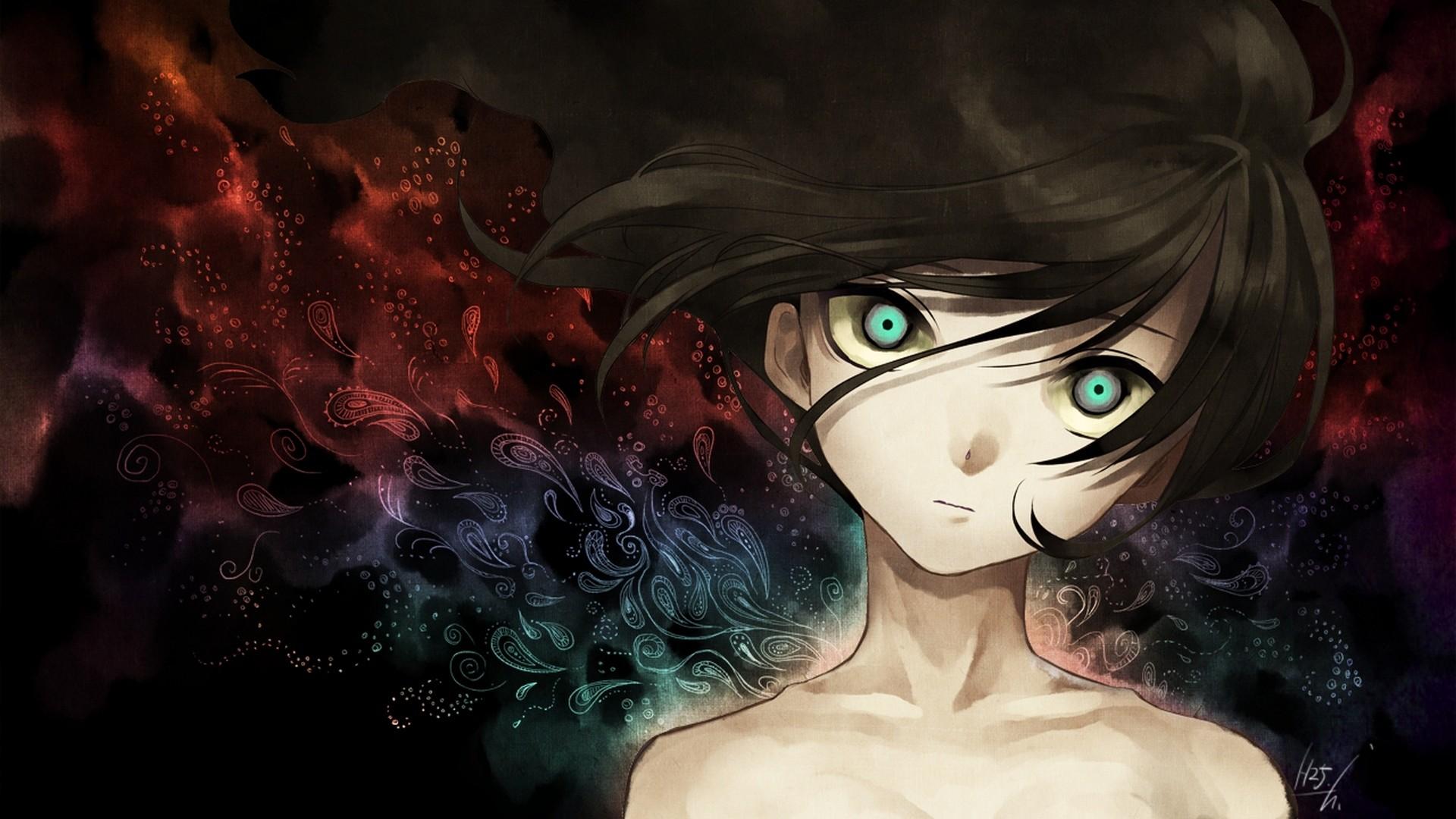 Wallpaper nightcore, anime, girl, face, art