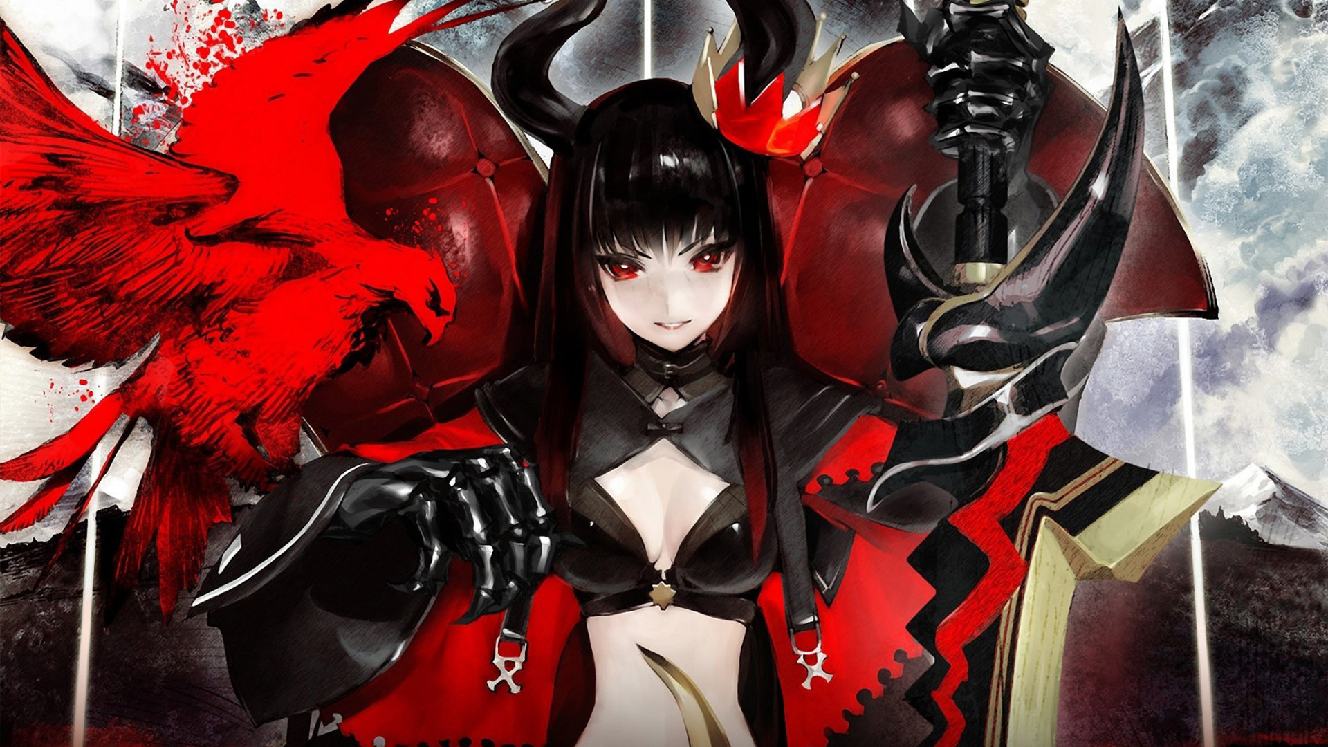 Black Gold Saw Anime Girl