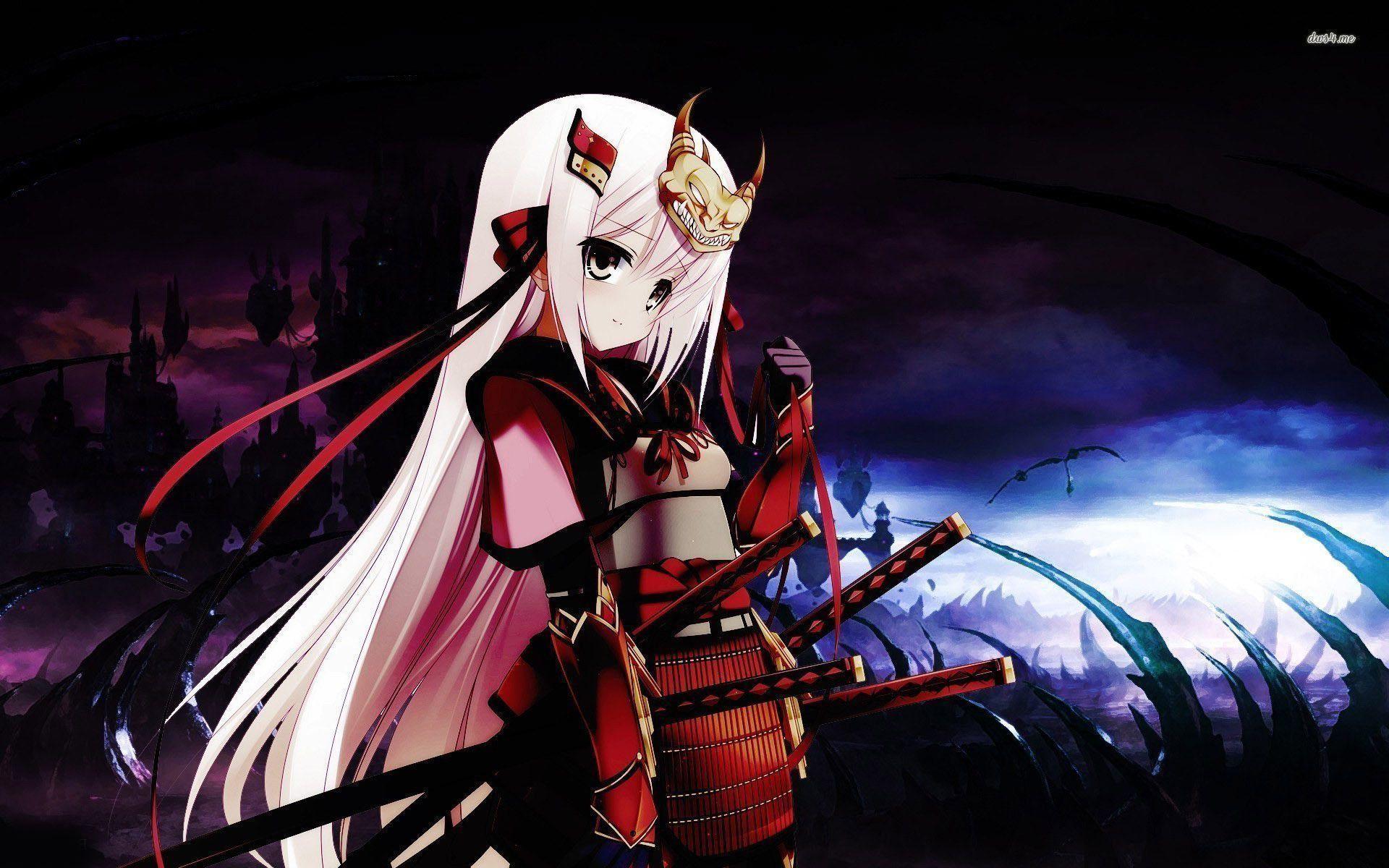 Samurai girl wallpaper – Anime wallpapers – #
