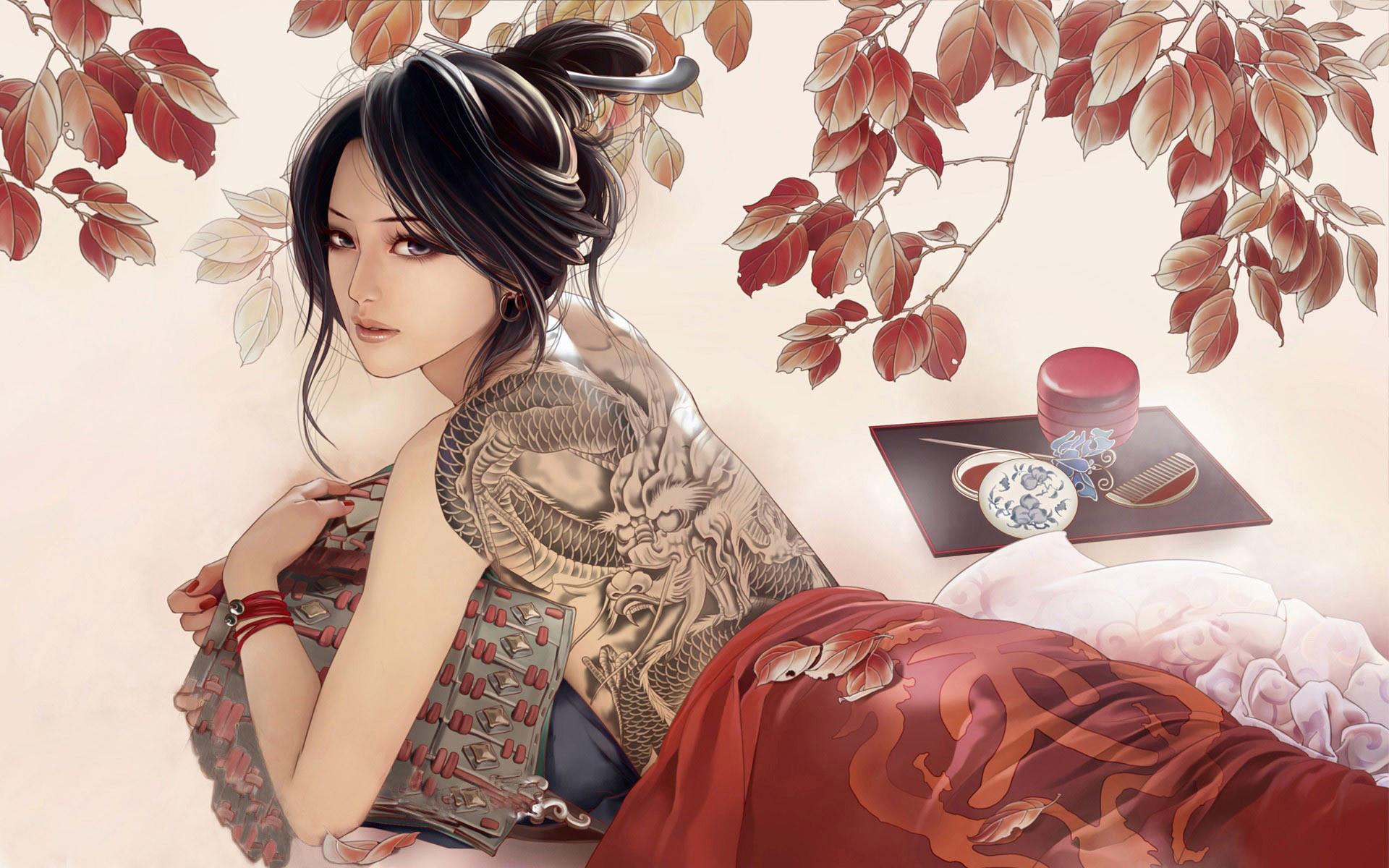 Modern geisha wallpaper – 1034089