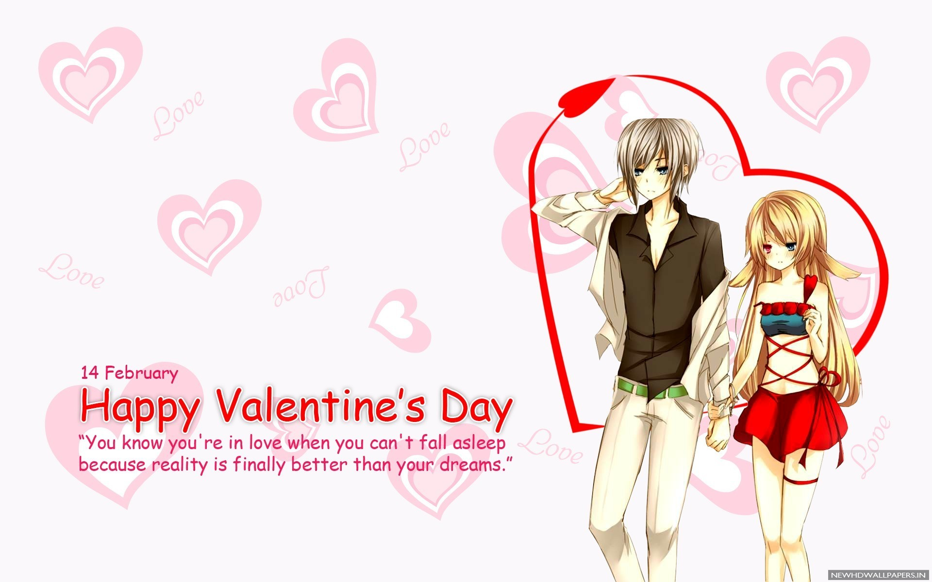 Anime Love Couple Hearts 2015 HQ Photo. Home » Valentine's Day » …