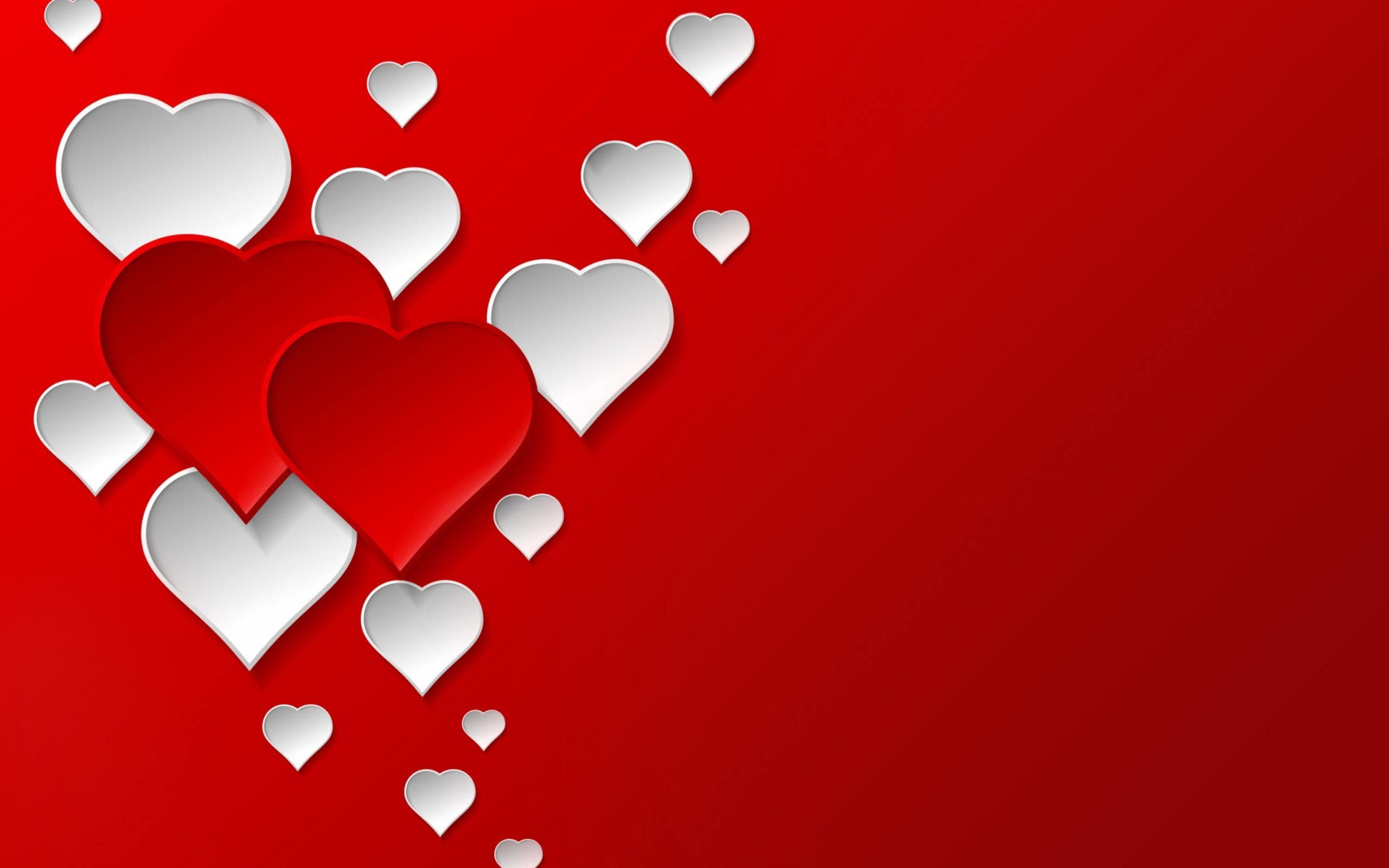Valentine's Day – Red and White Hearts wallpaper