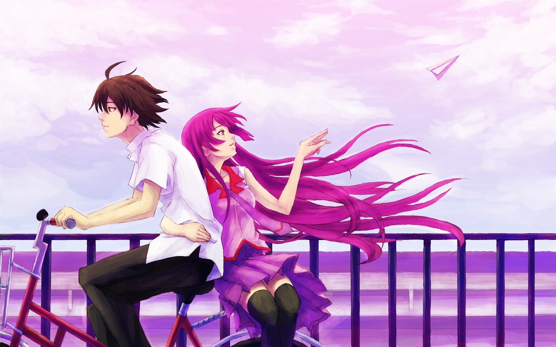 … Valentines Day Vector Wallpaper ·  Bike_lovers-Anime_HD_Wallpaper_1920x1200