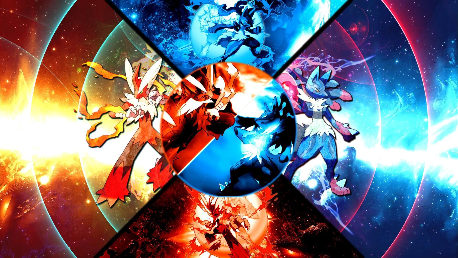 DeviantArt: More Like Mega Blaziken VS Mega Lucario Wallpaper by .