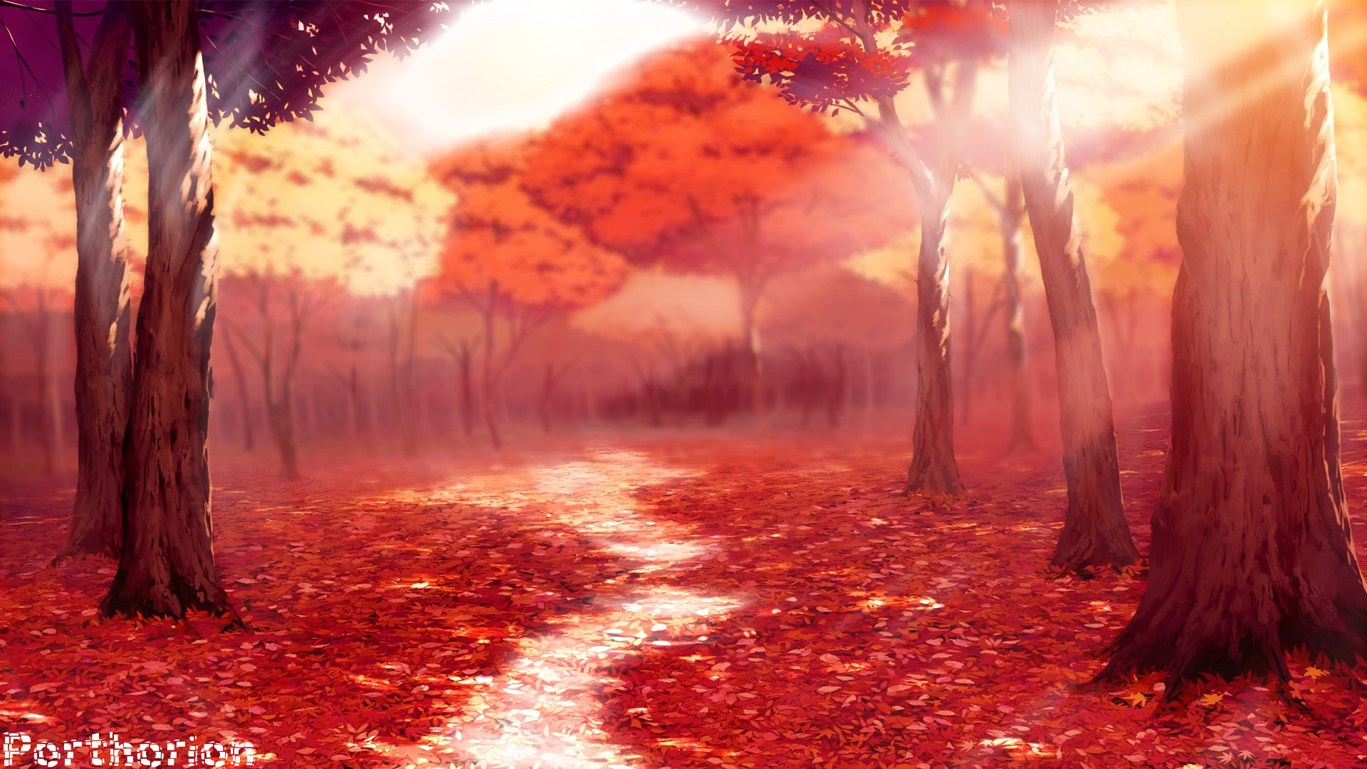 Fall / Autemn Season Anime Style – Wallpaper by porthorion on .