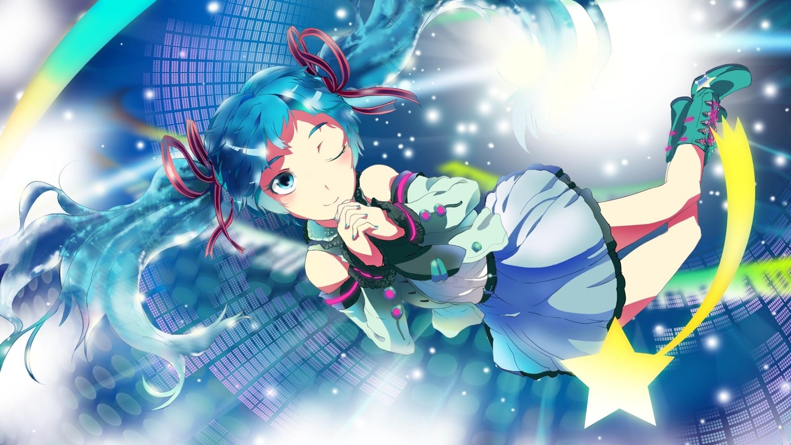 Wallpaper vocaloid, hatsune miku, anime