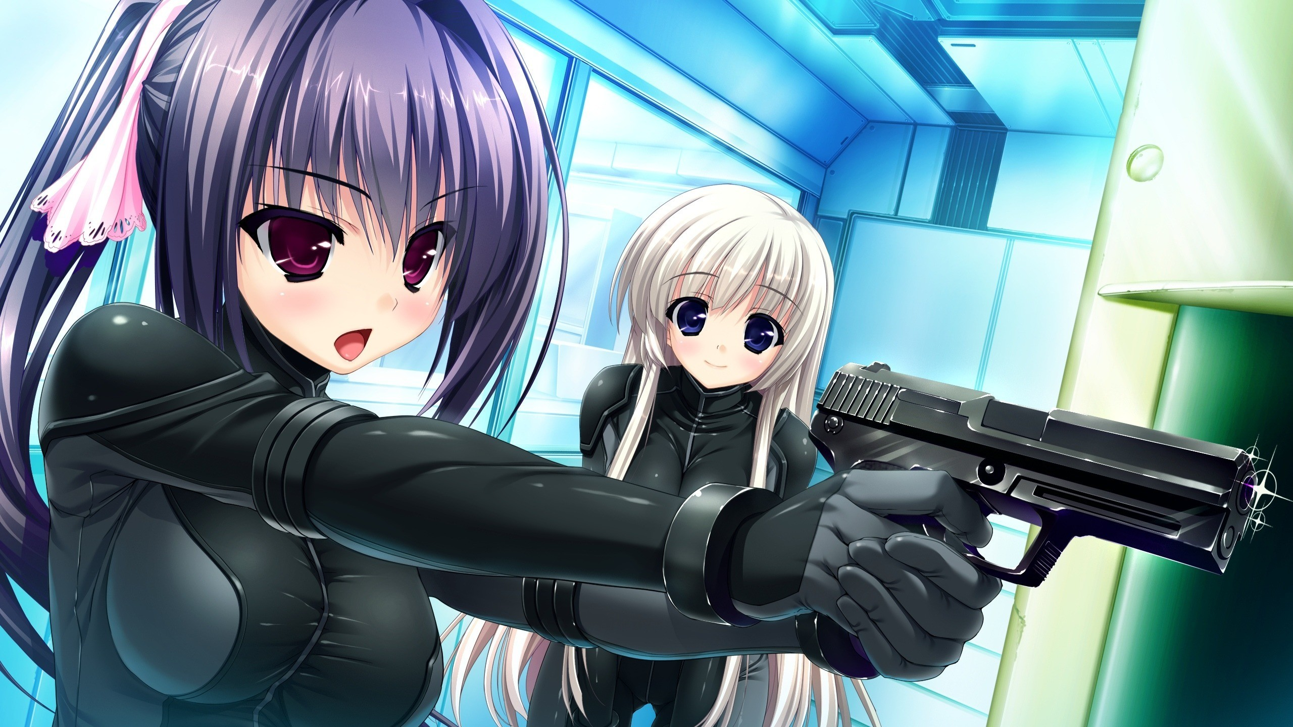 Photo Pistols Girls Anime Hands 2560×1440