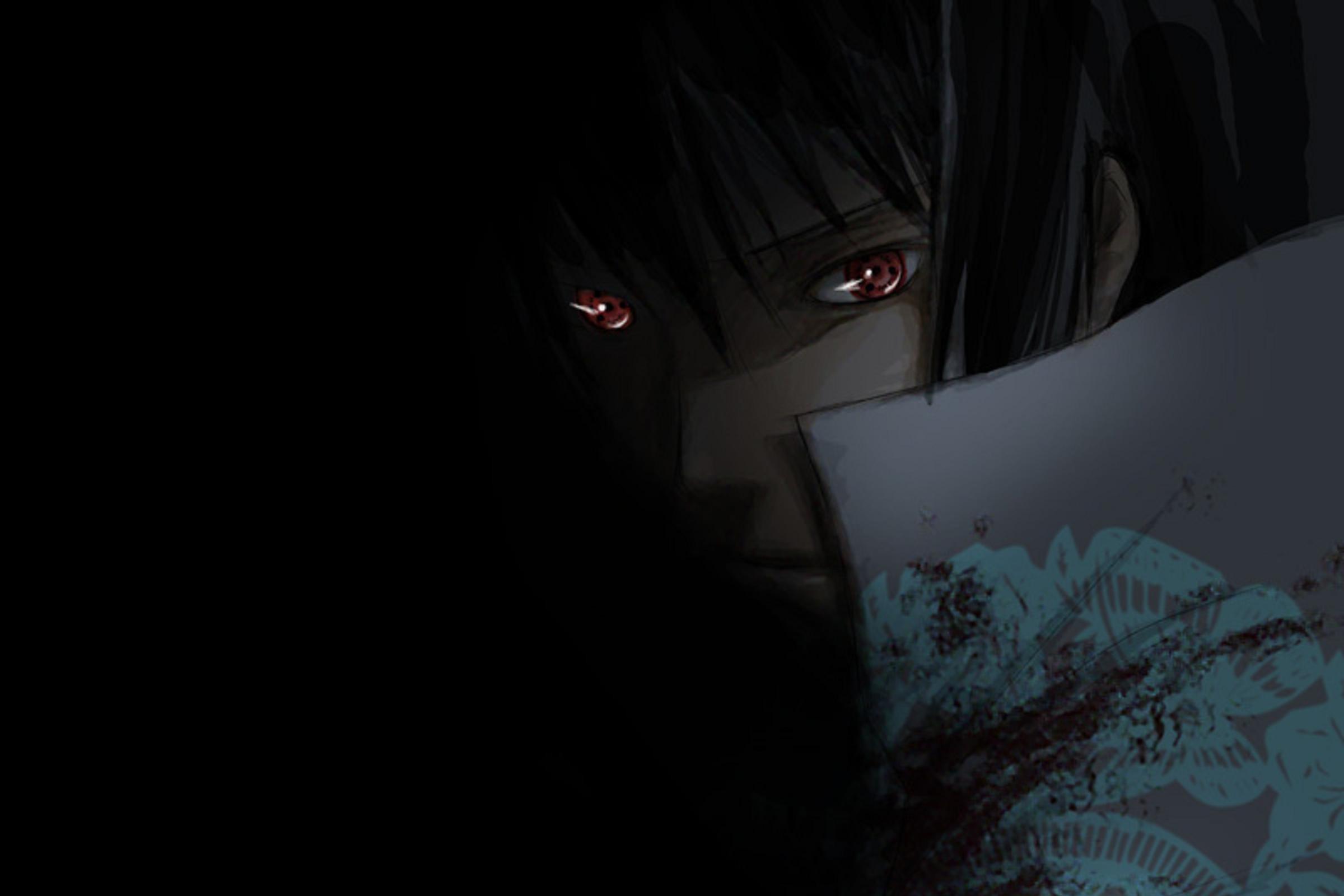 Sasuke Uchiha HD Wallpaper Dark Color