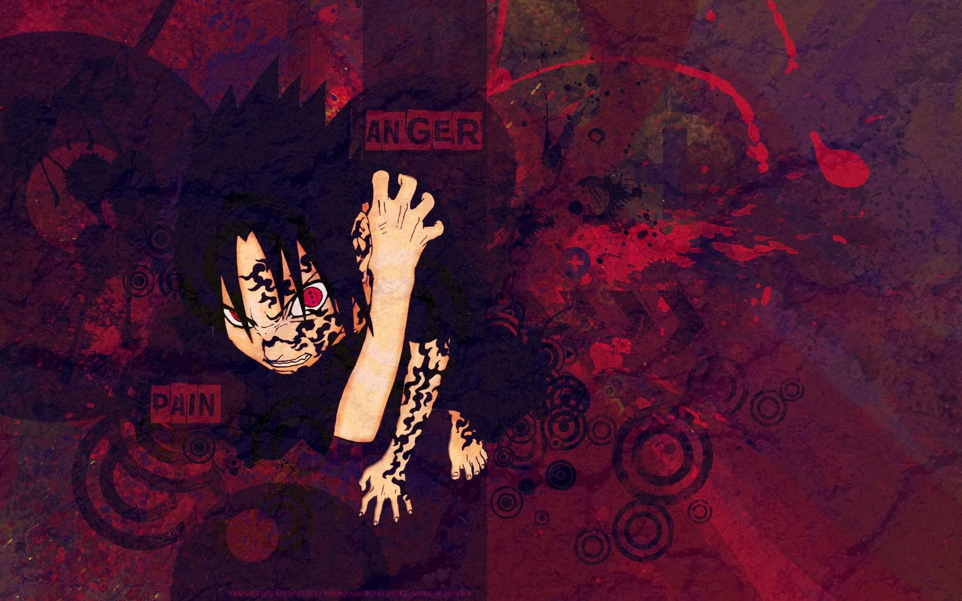 sharingan and curse seal sasuke uchiha hd anime wallpaper 1920×1200