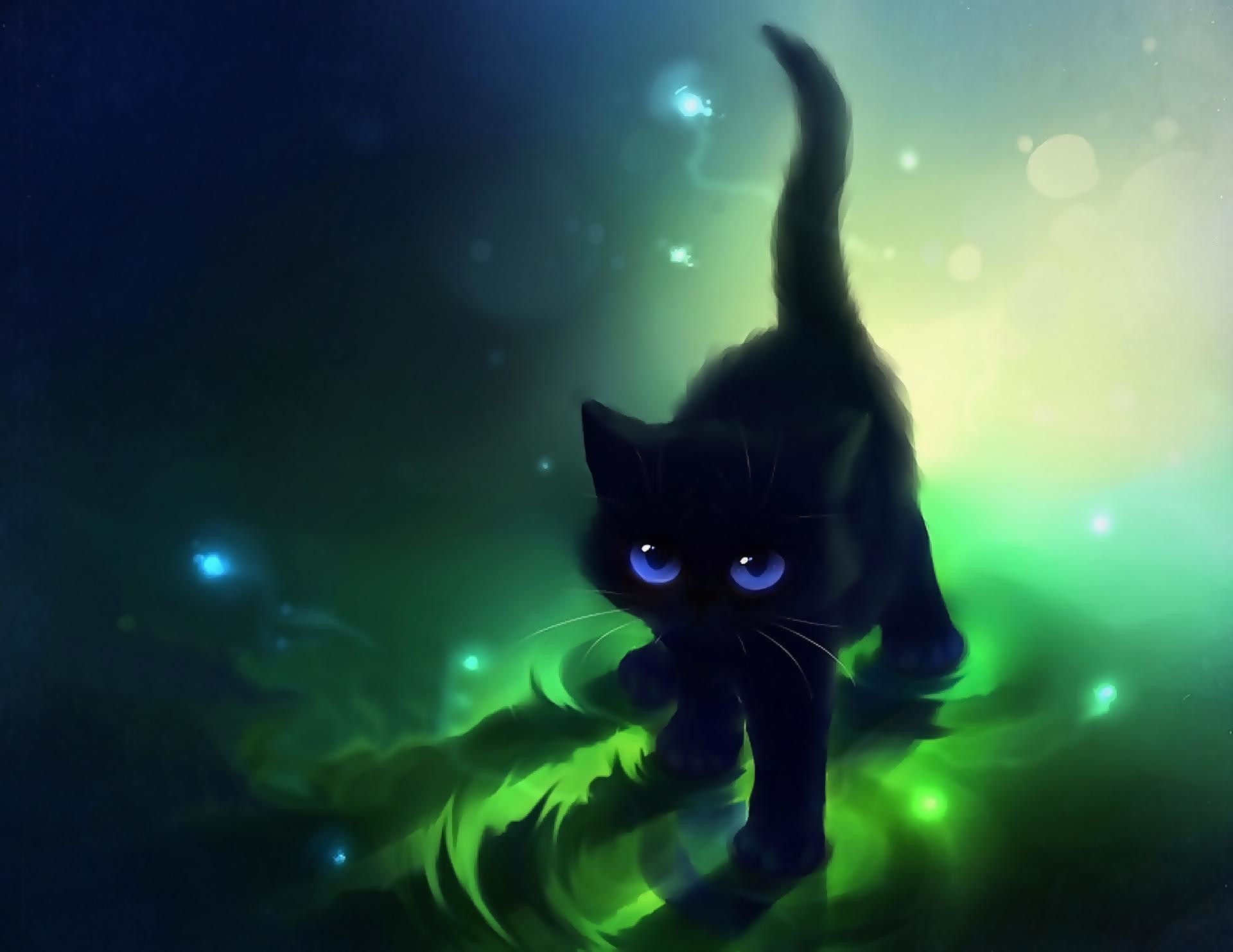 Images For > Cute Anime Cat Wallpapers   kittens   Pinterest .