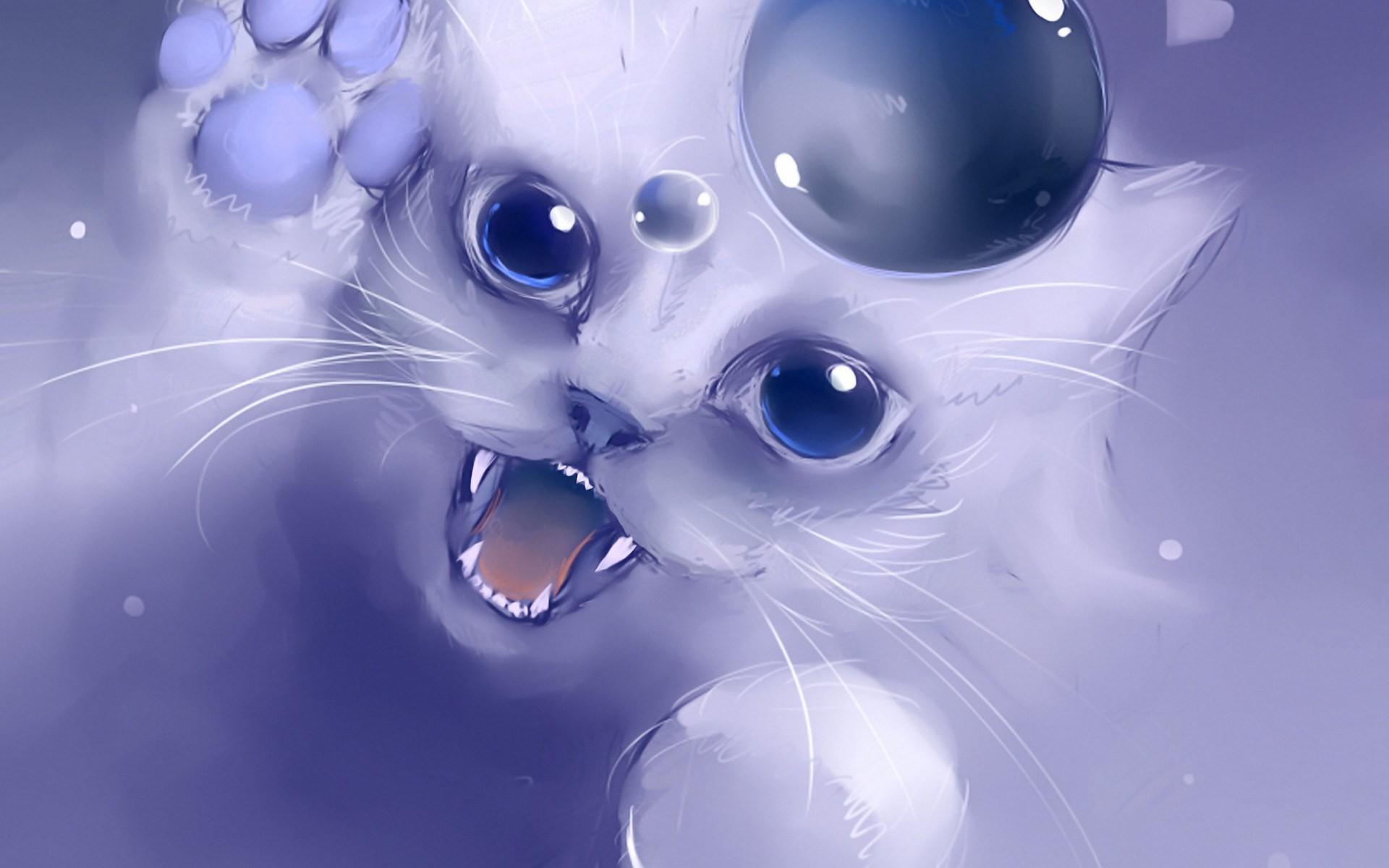 cat artwork hd wallpaper