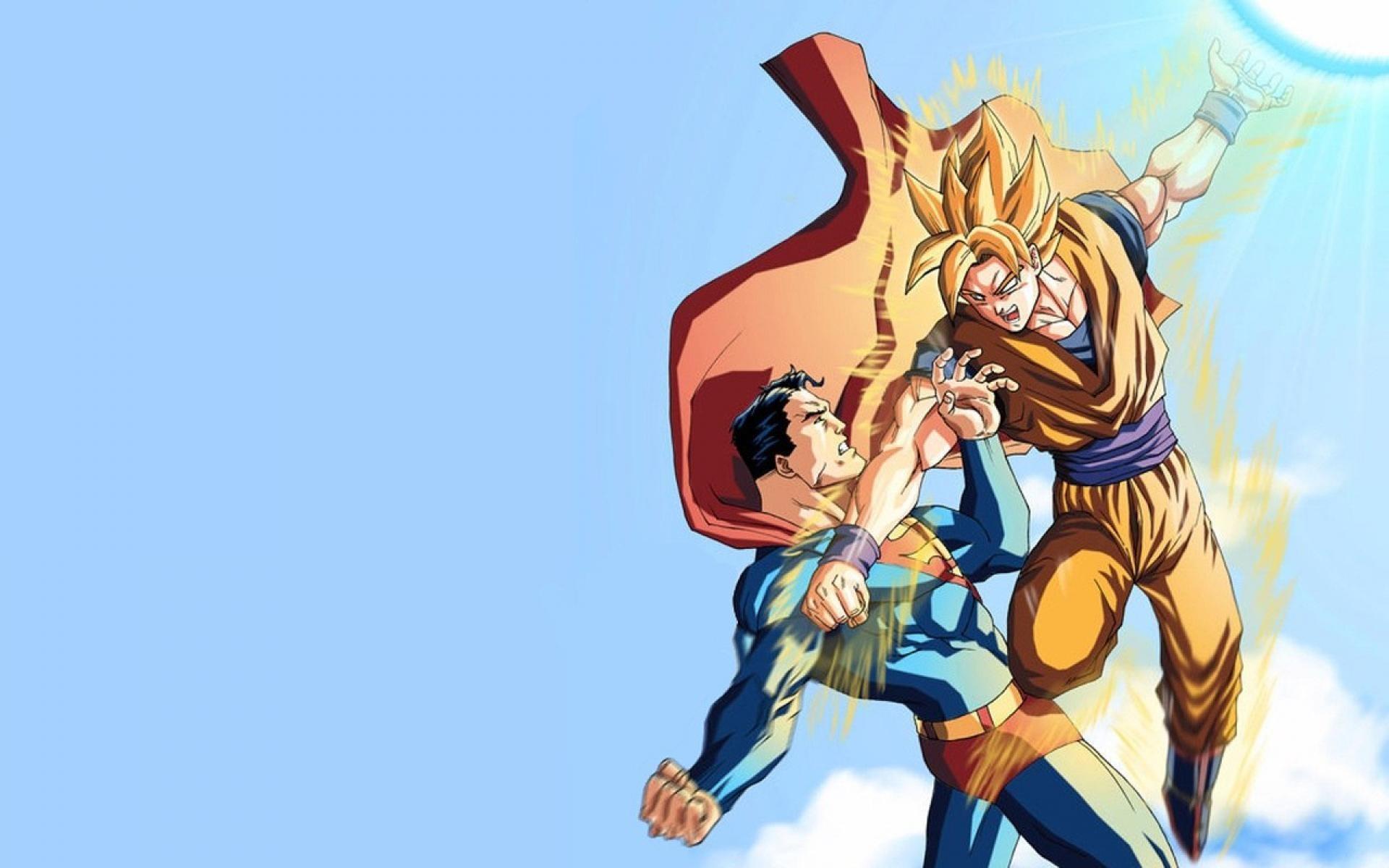 Son Goku Super Saiyan Vs Superman Wallpaper #4708 | Frenzia.