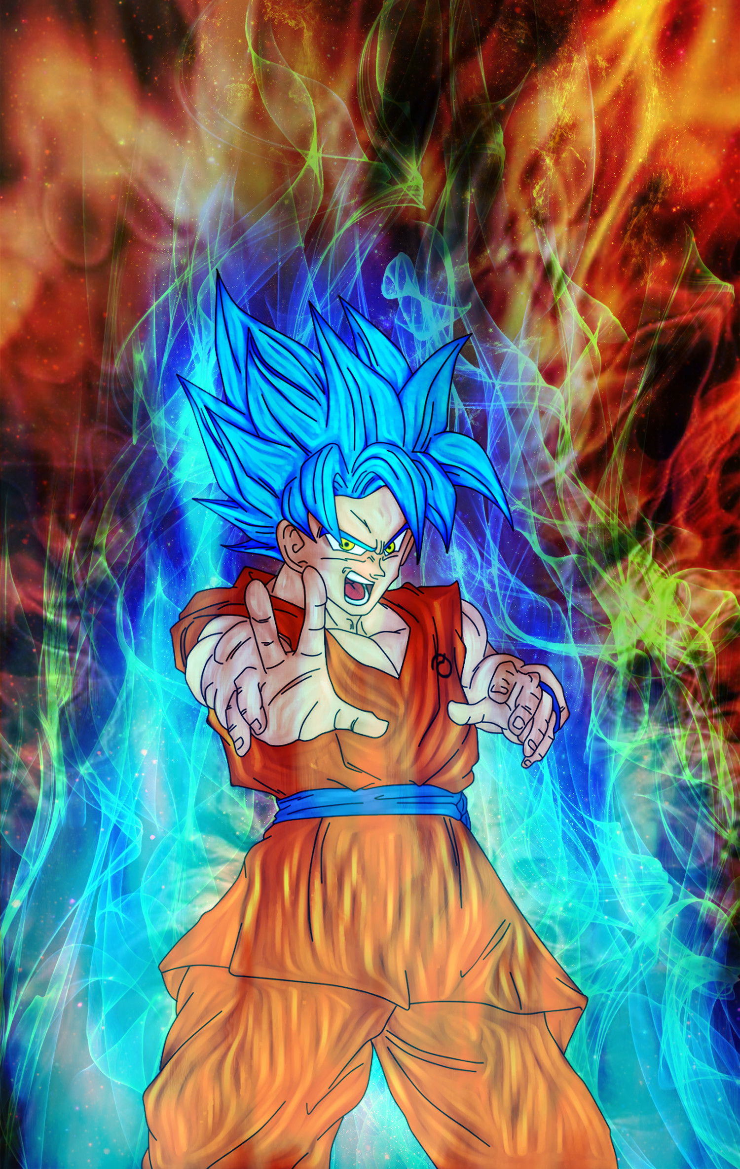 Goku God-ki Super Saiyan by Nassif9000 on DeviantArt