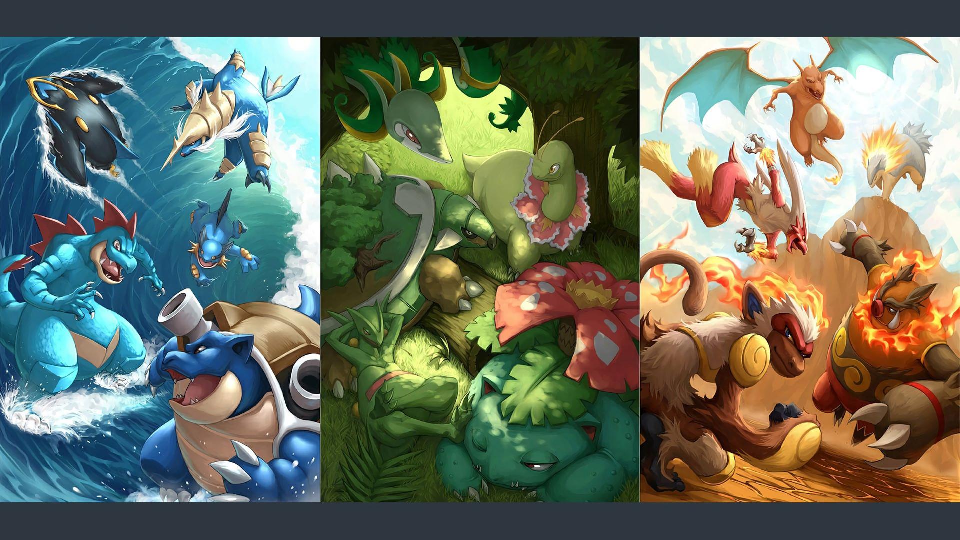Pokemon Wallpaper Starters