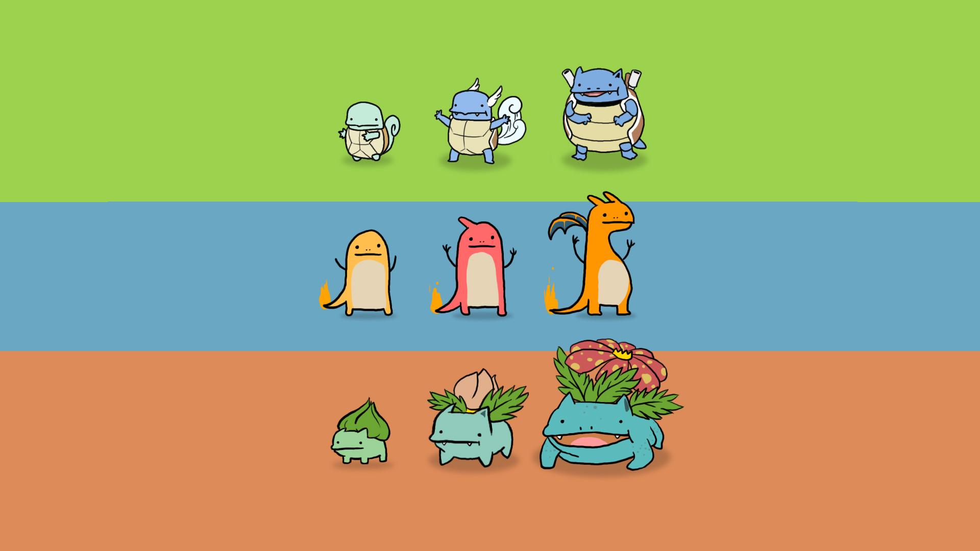 Original Pokemon Starters [1920×1080] …