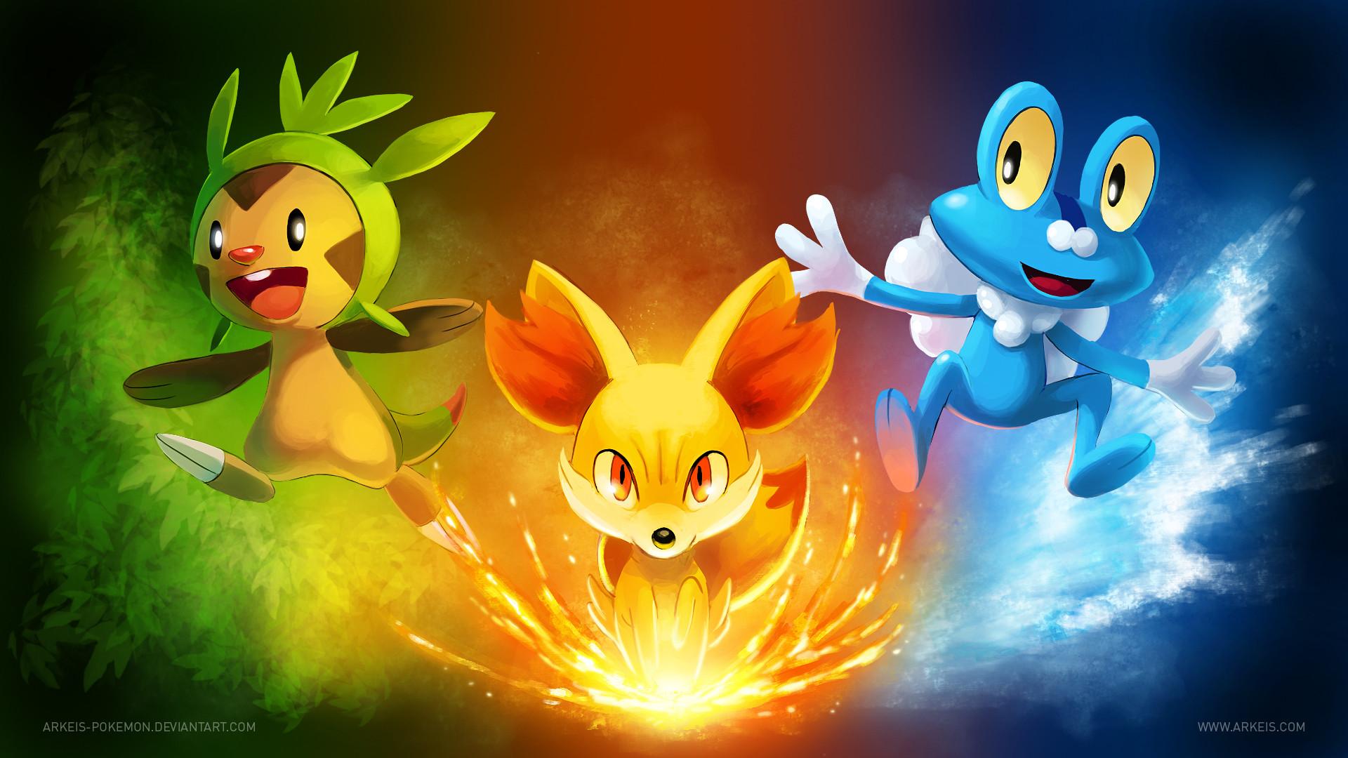 … [Wallpaper] Pokemon X/Y Starters by arkeis-pokemon