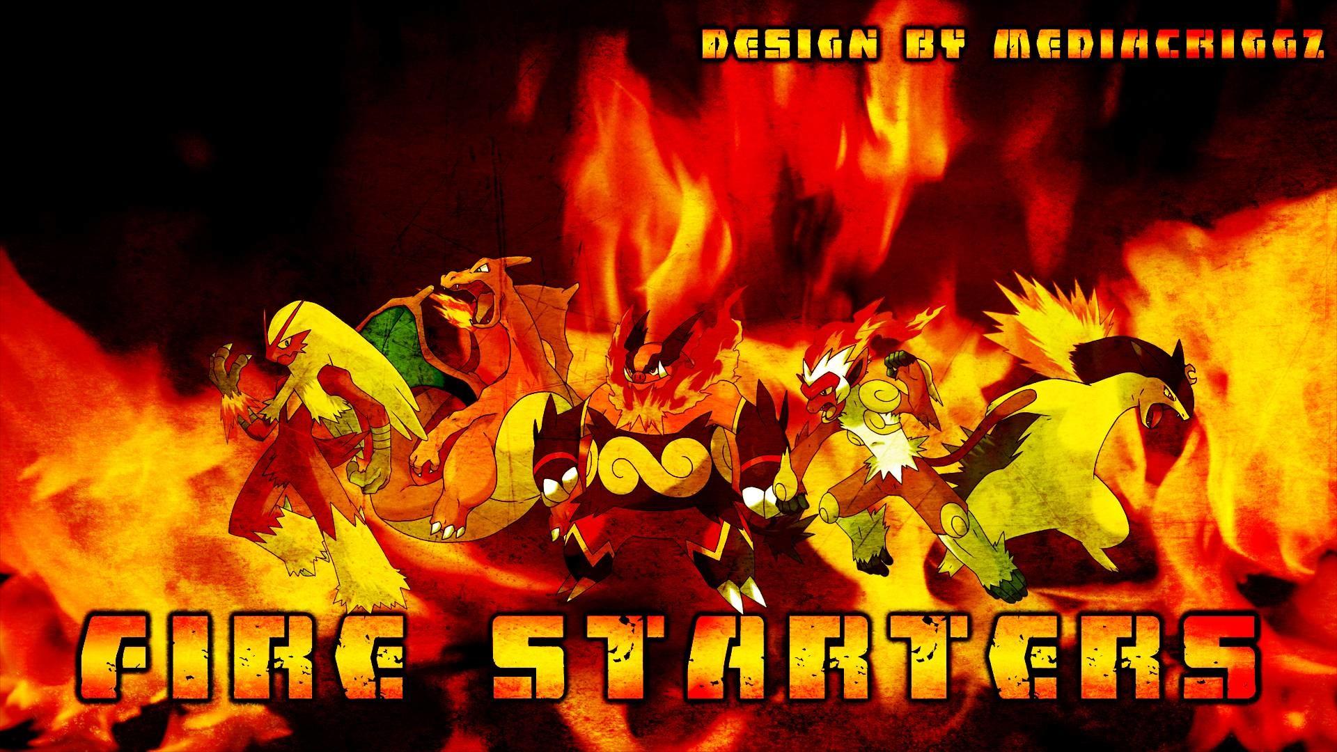 Pokemon Fire Starters Wallpaper by MediaCriggz on DeviantArt