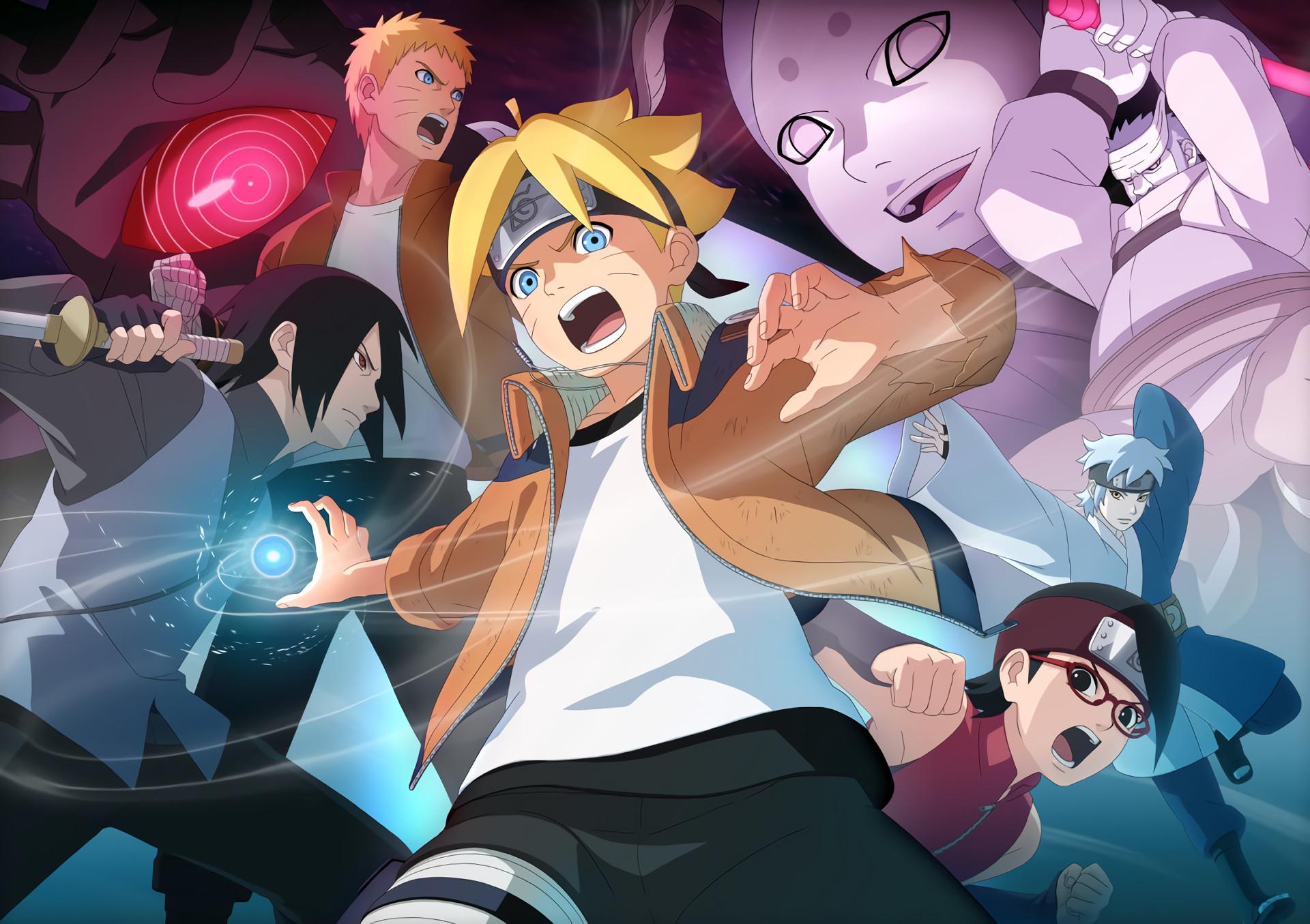 Anime – Boruto Boruto Uzumaki Sarada Uchiha Naruto Uzumaki Sasuke Uchiha  Momoshiki Ōtsutsuki Wallpaper
