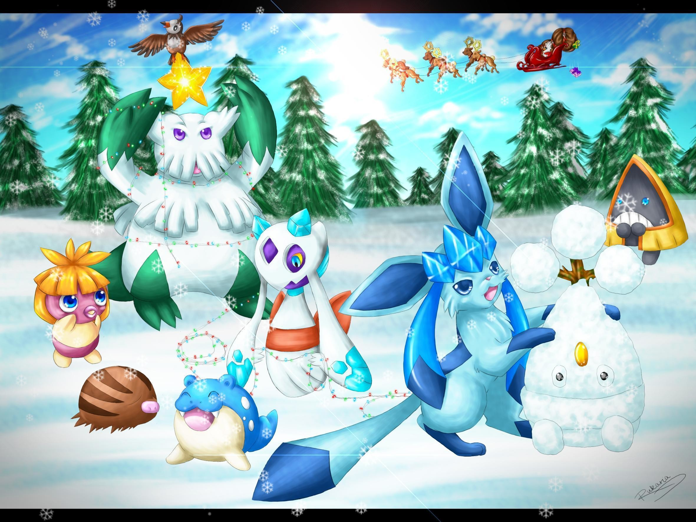 Filename: CUnpe3p.jpg · view image. Found on: pokemon-christmas-wallpaper