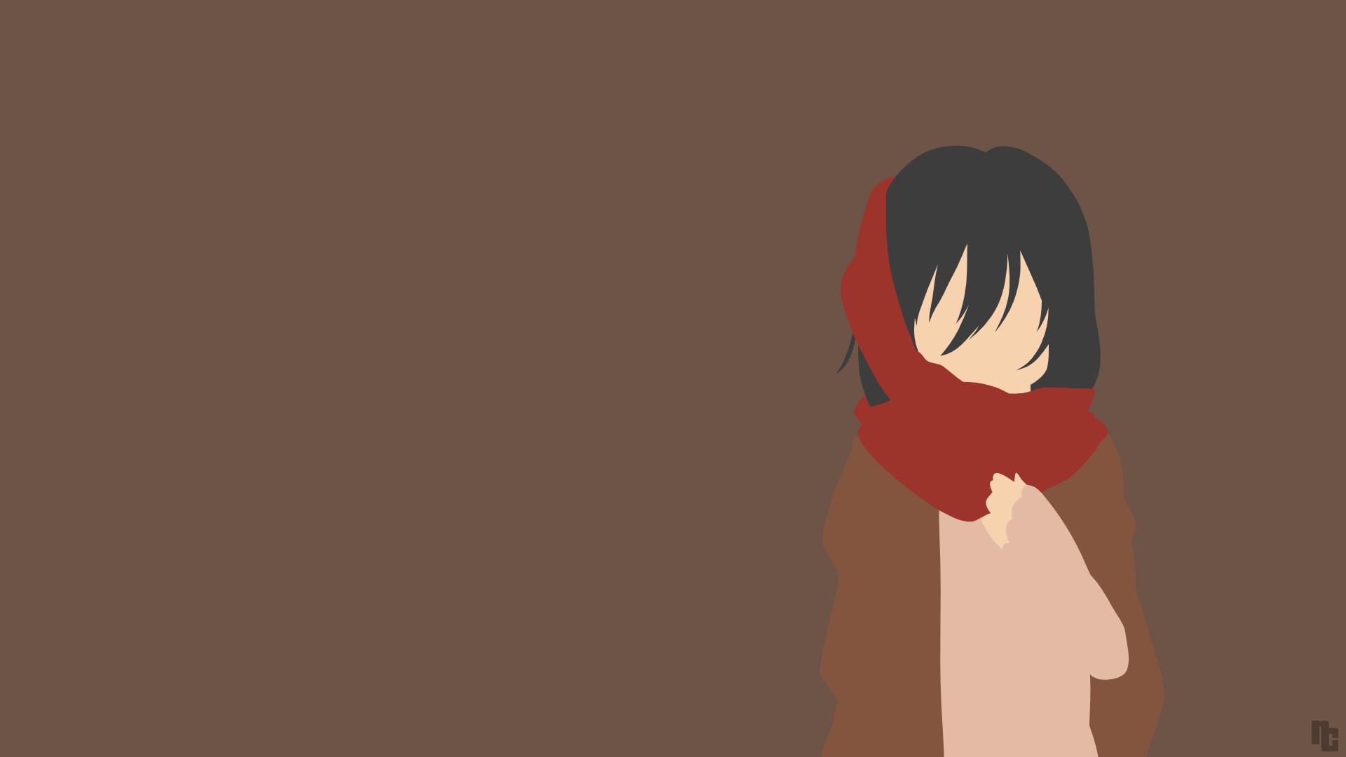 Minimalist Wallpaper Anime Minimalist Wallpaper Mikasa