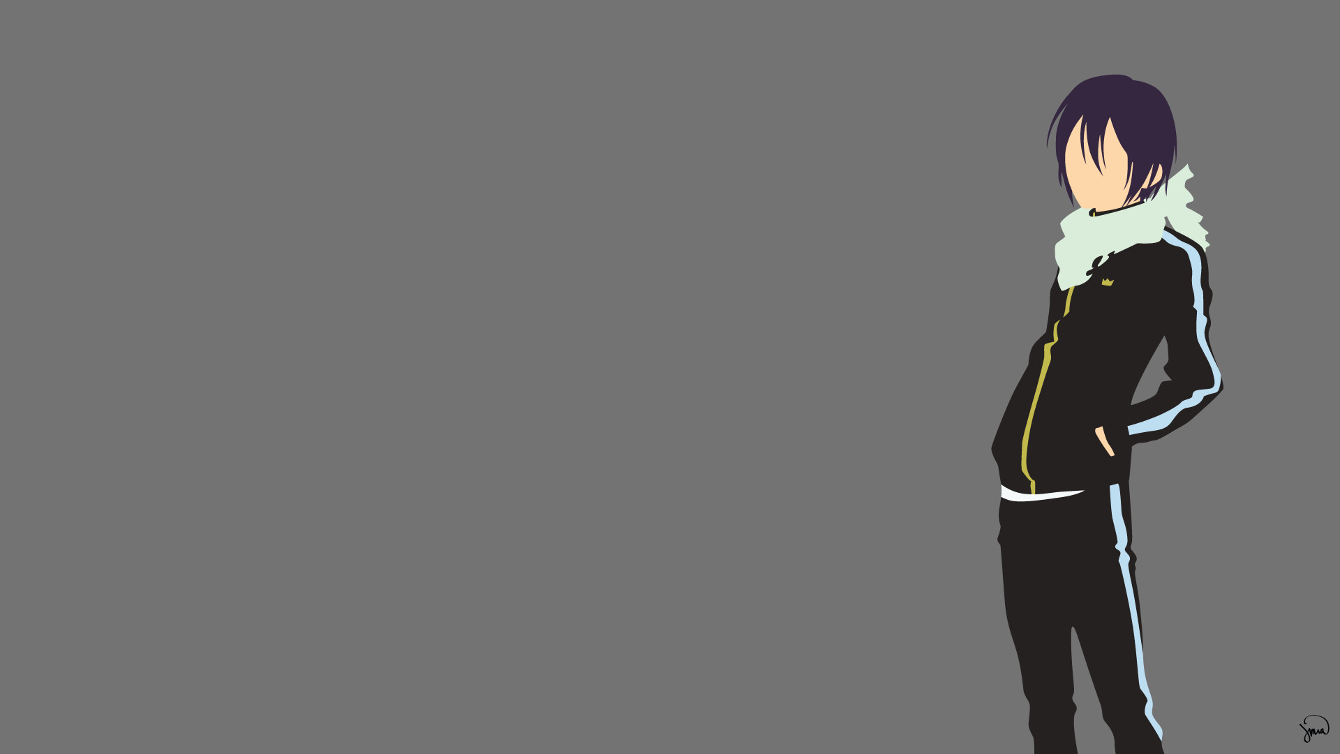 yato-noragami-minimalist-wallpaper-by-greenmapple17.png (1920×1080) |  Wallpapers/Backgrounds | Pinterest | Noragami, Anime and Manga