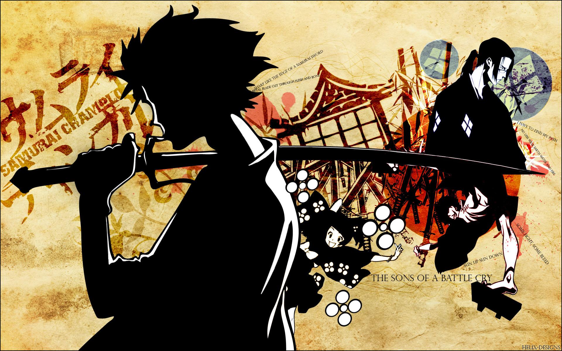 Samurai Champloo katana samurai anime anime boys Japanese clothes /  Wallpaper