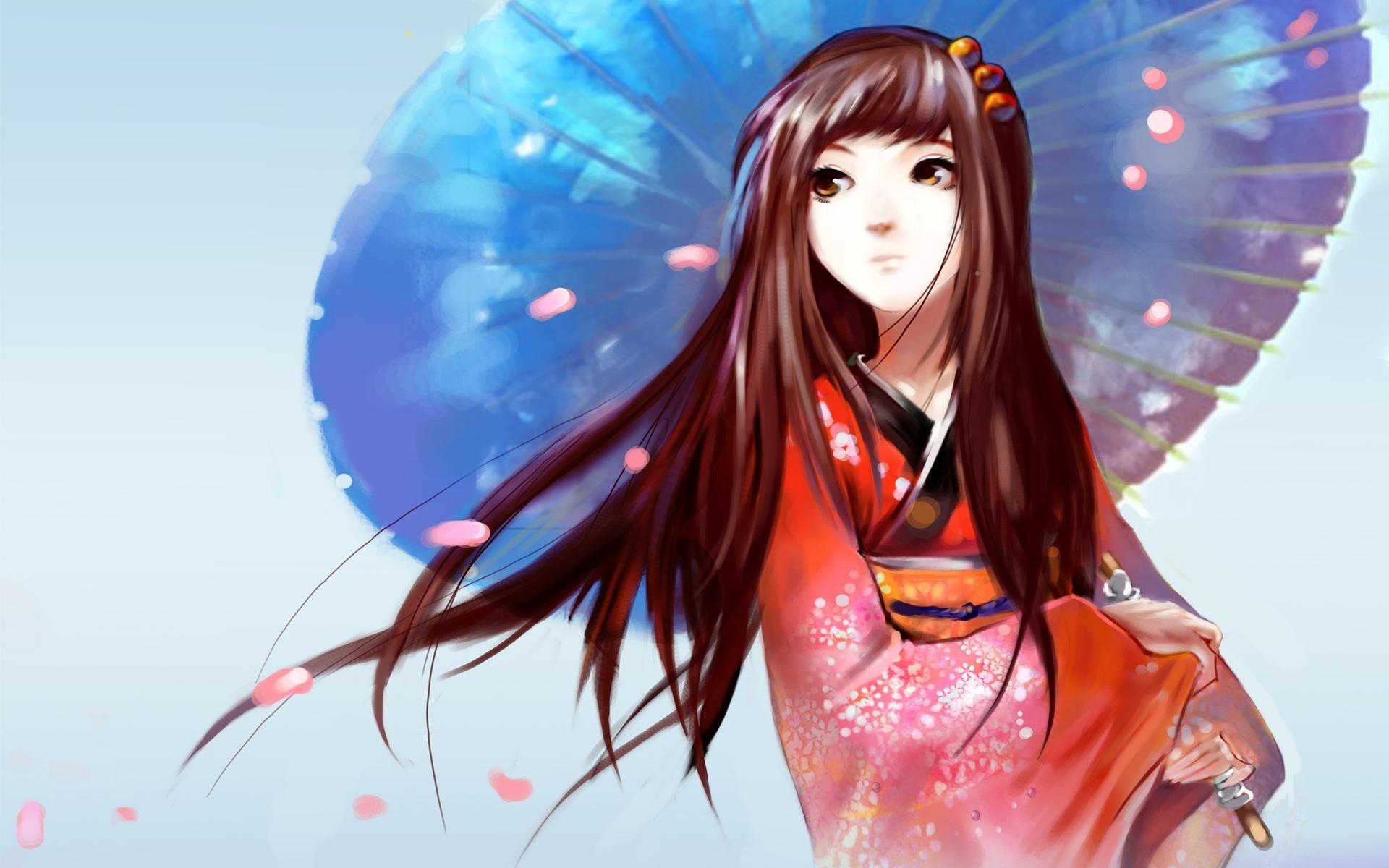 Japanese Anime Girl Umbrella