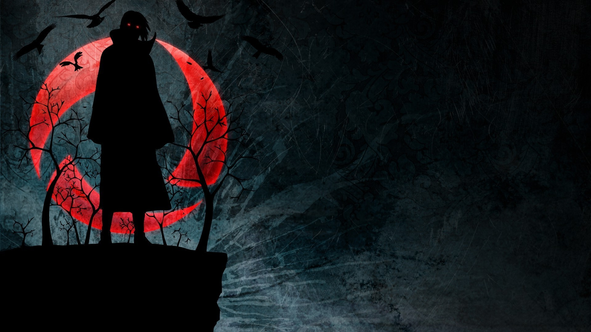 Uchiha Itachi, Naruto Shippuuden, Akatsuki, Silhouette, Sharingan  Wallpapers HD / Desktop and Mobile Backgrounds