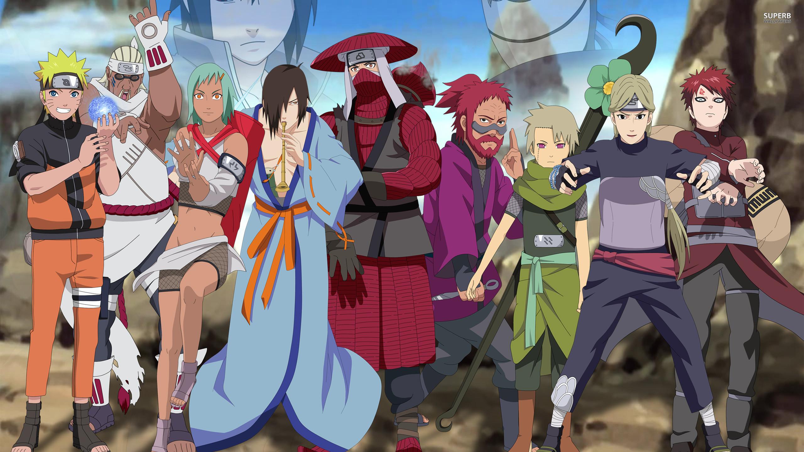 Naruto Shippuden main characters wallpaper